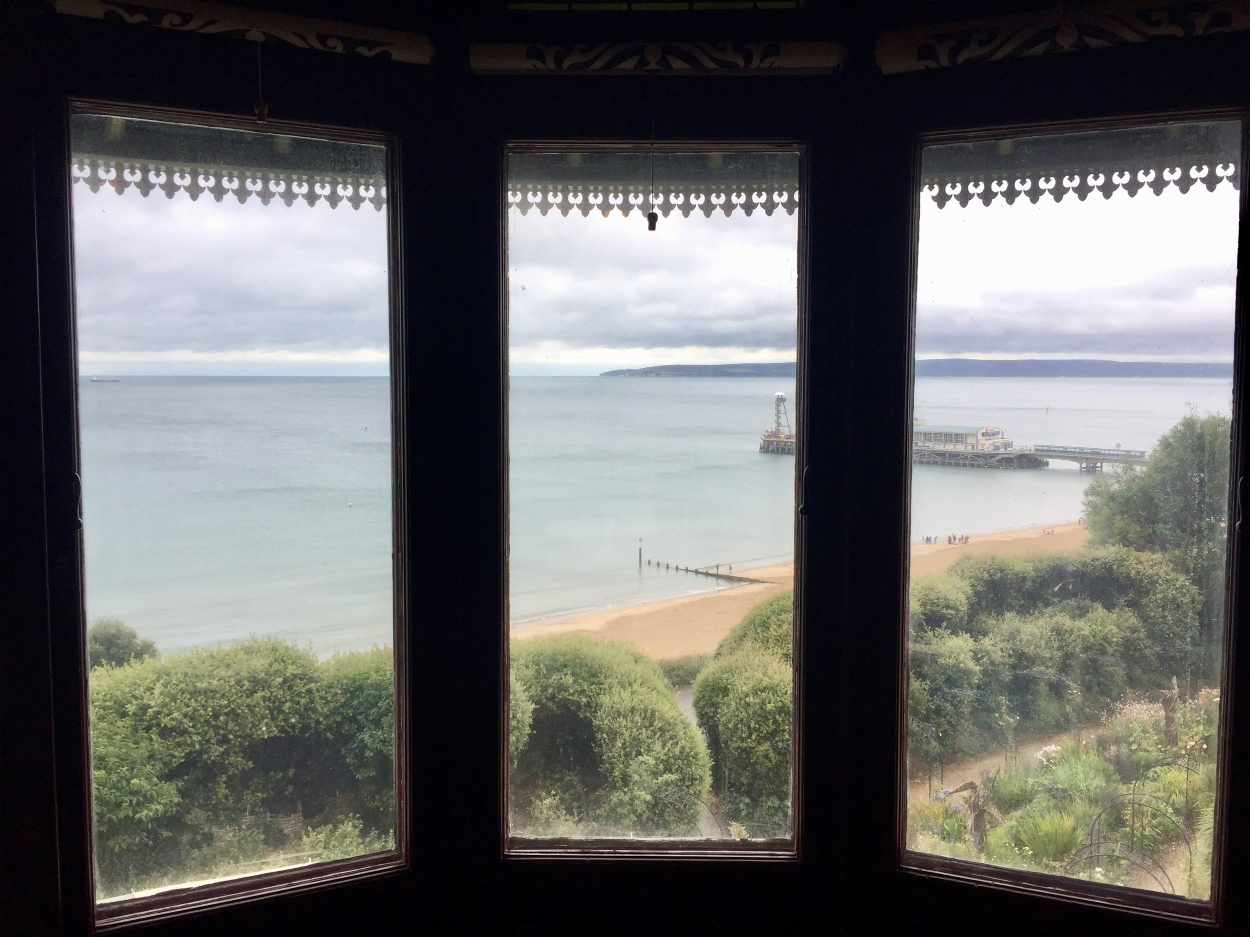 The view from Russell-Cotes Museum