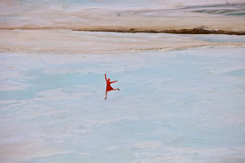 Gallya dancing on the ice.