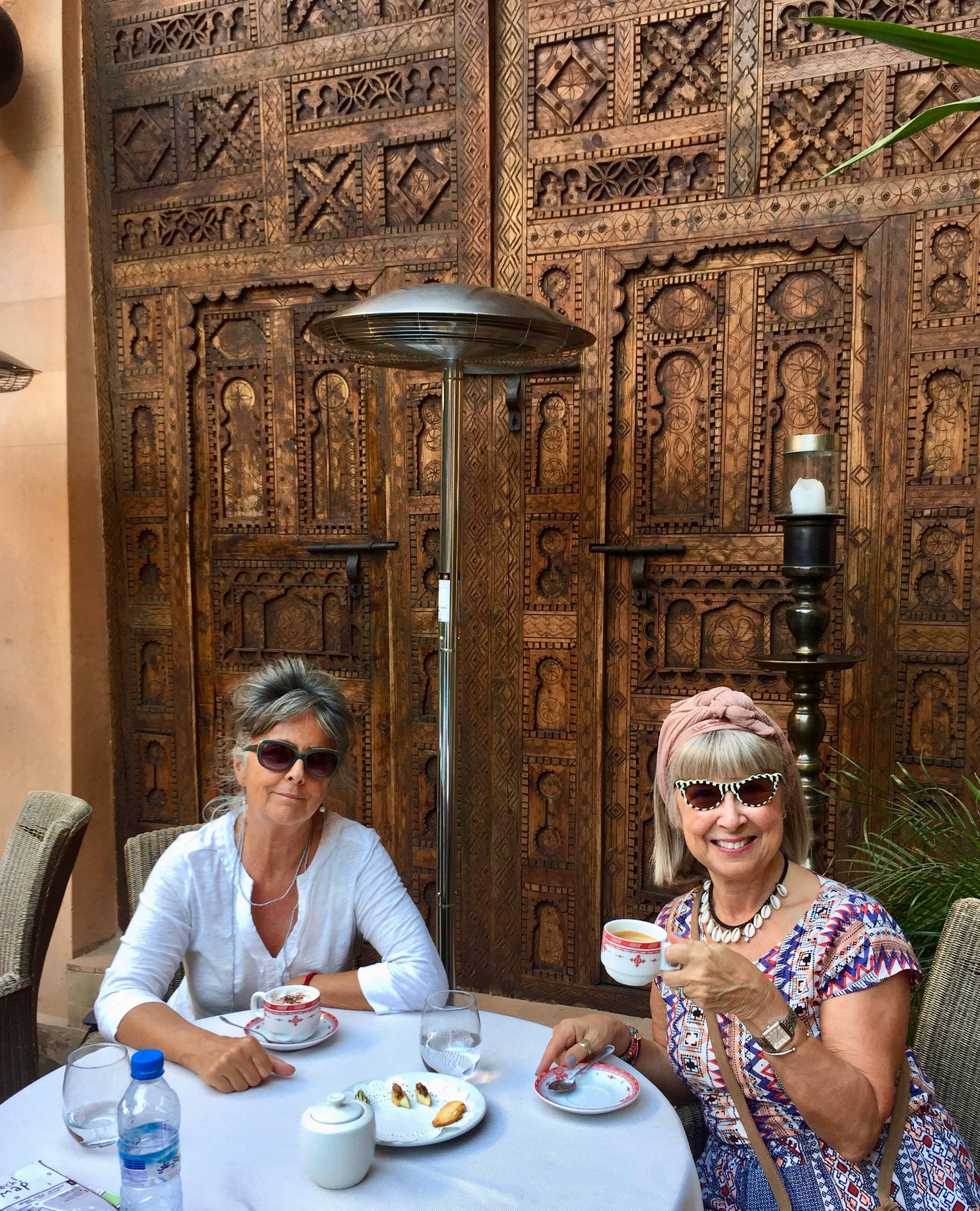 A lovely start to my birthday, coffee at Maison Arabe, Marrakech, Morocco.