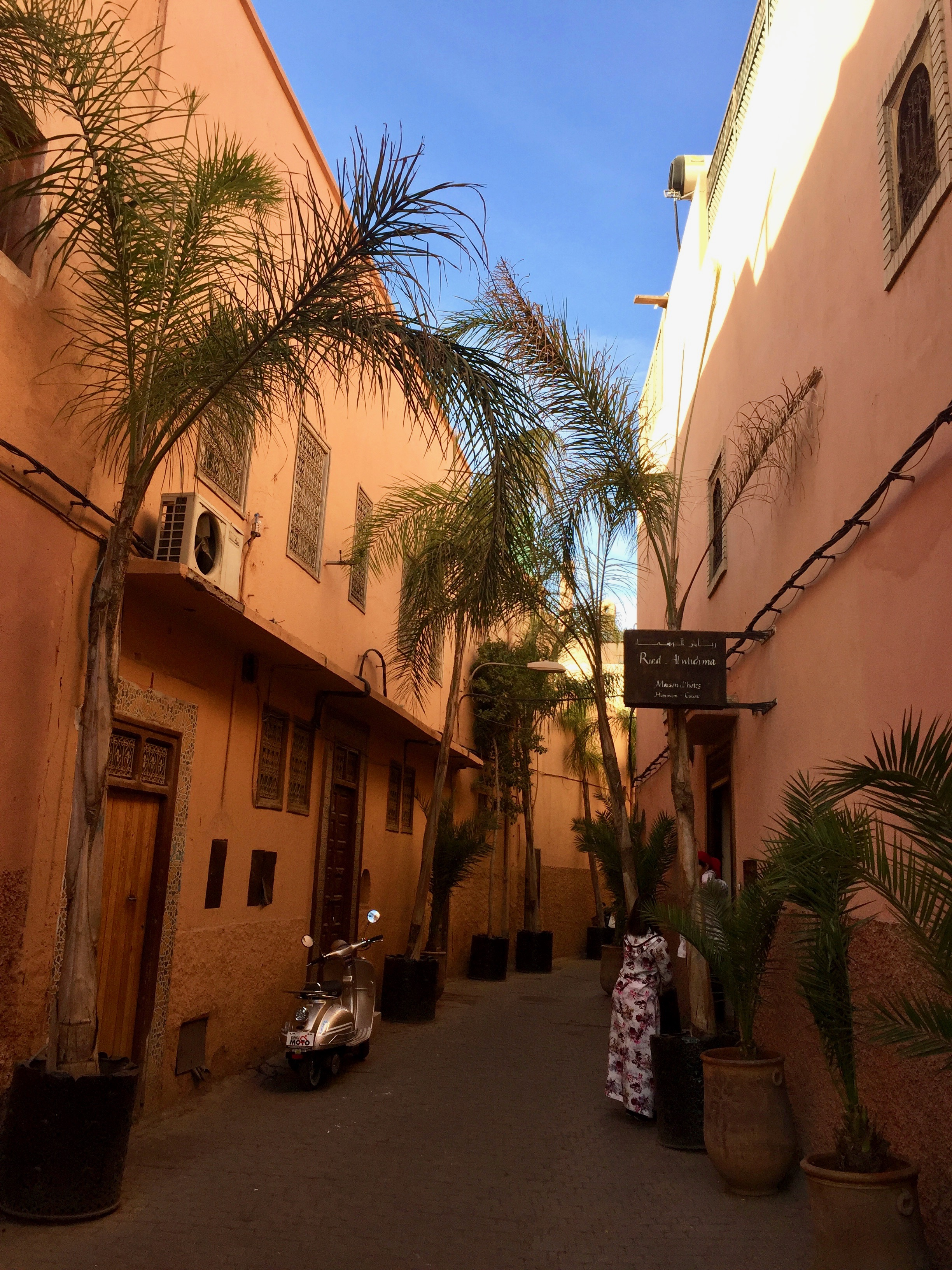 The alley way to Maison Arabe. One of the best areas to start exploring the Medina.