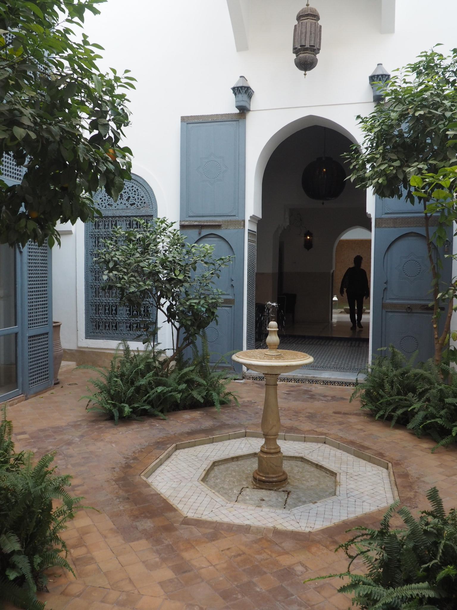 A riad courtyard, Marrakech.