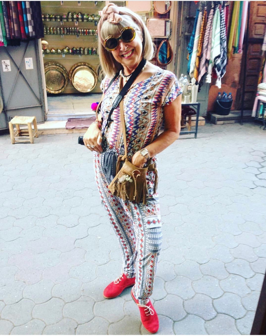 Love my red suede shoes! Handmade in Marrakech