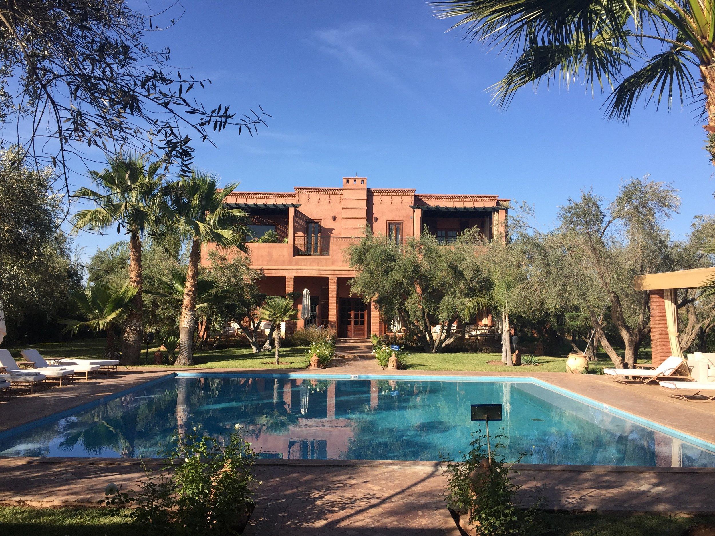 An oasis outside Marrakech