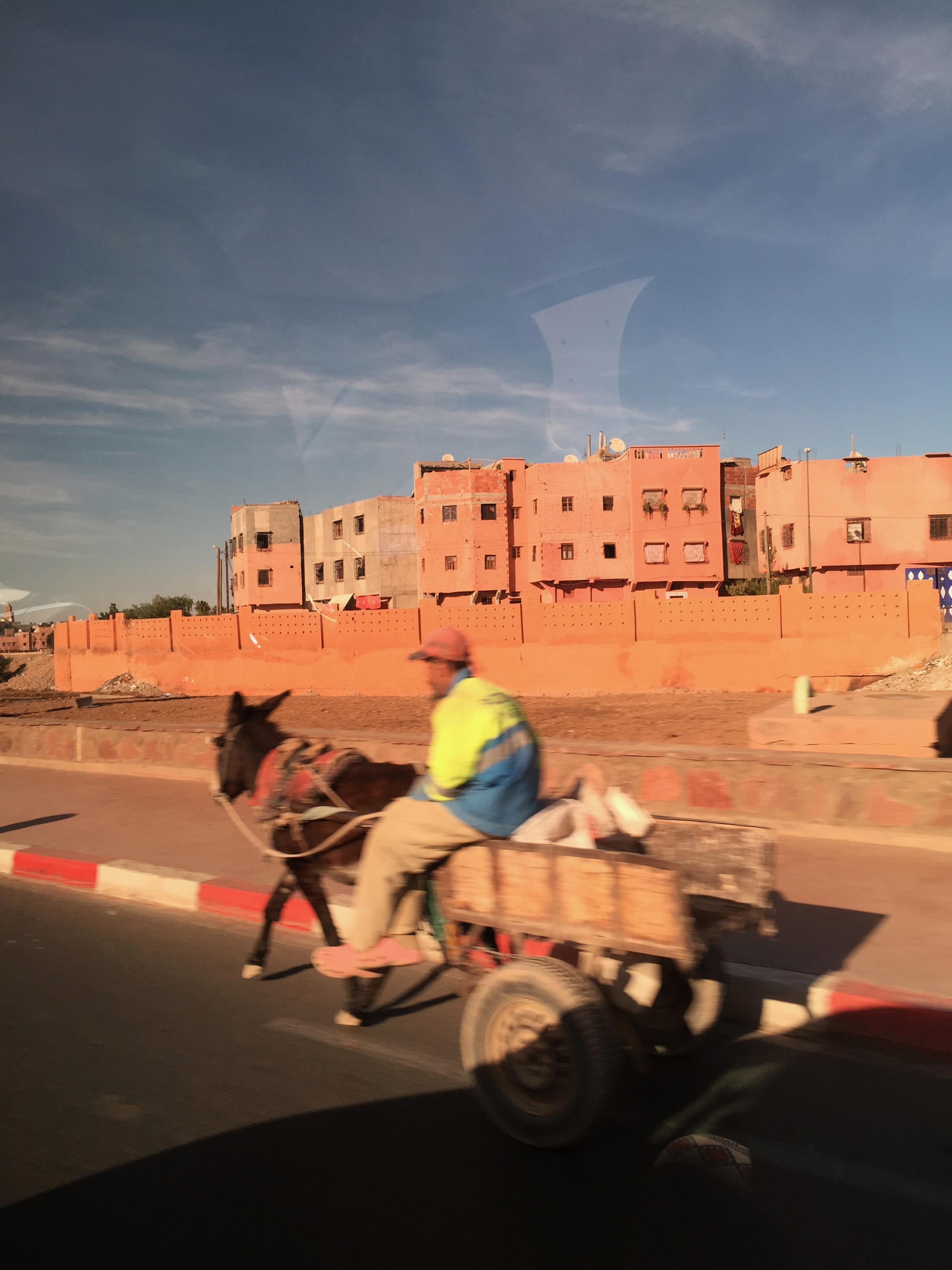 Dodging the traffic in Marrakech