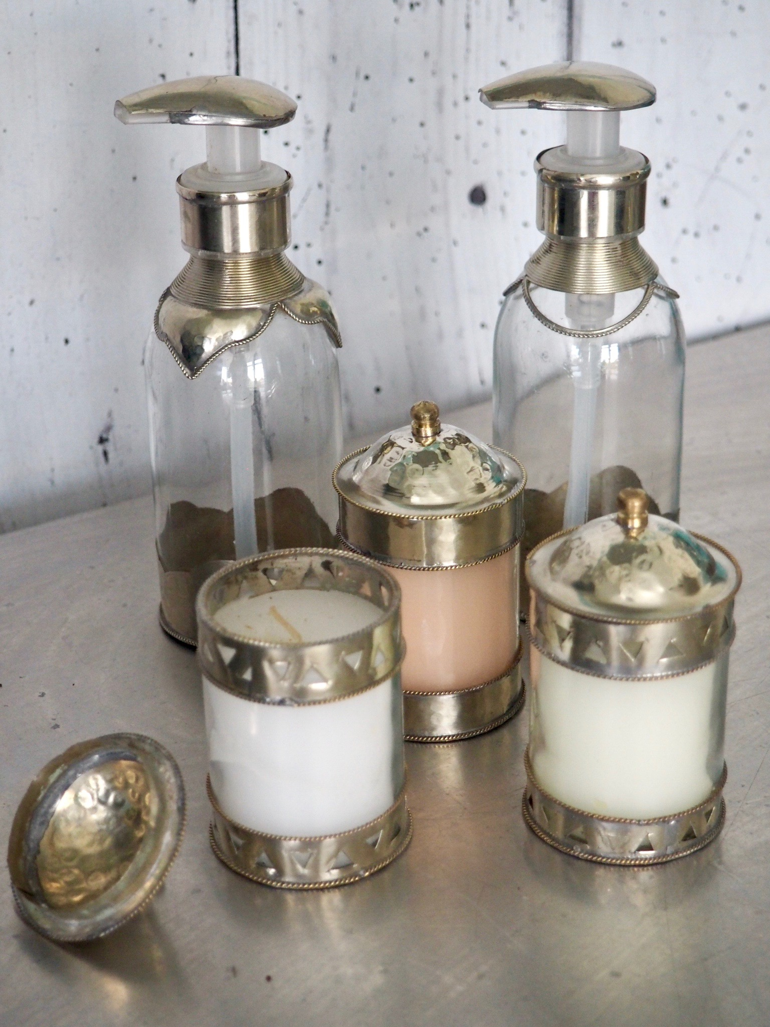 Love these candles and soap containers from Marrakech.