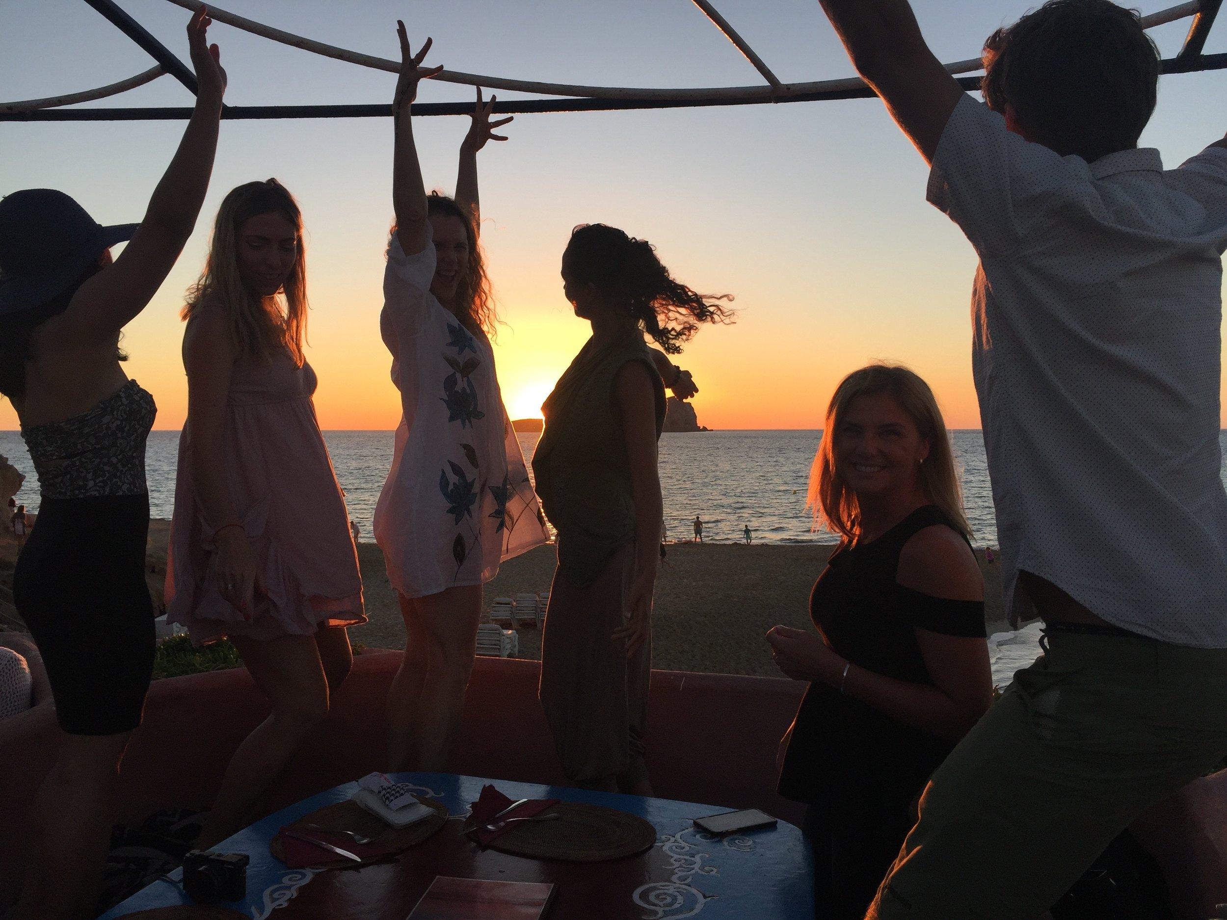 Dancing at Ibizan sunset