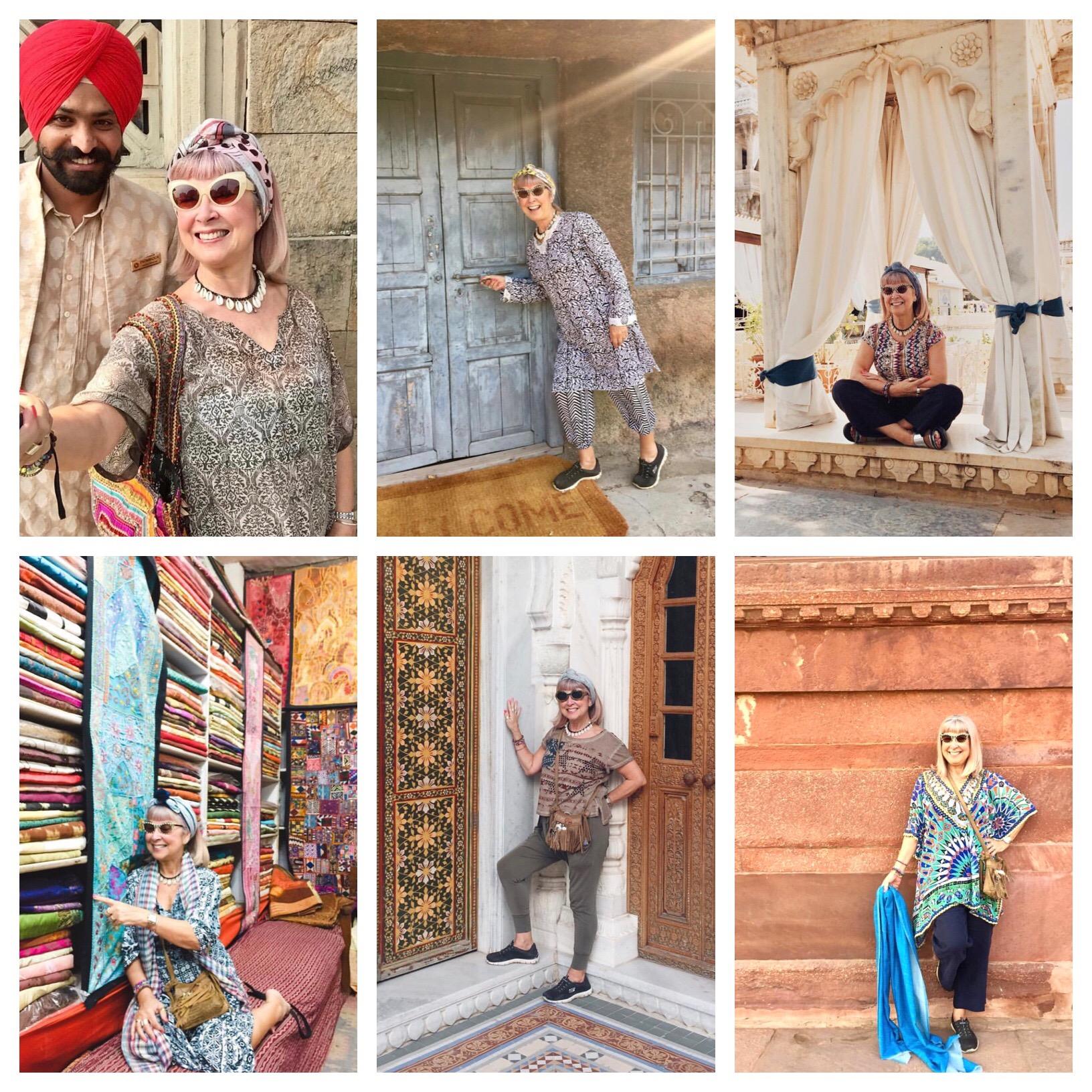 From L-R: Mumbai, Ajanta Caves, Udaipur, Jodhpur. Bikaner, Rathambore.