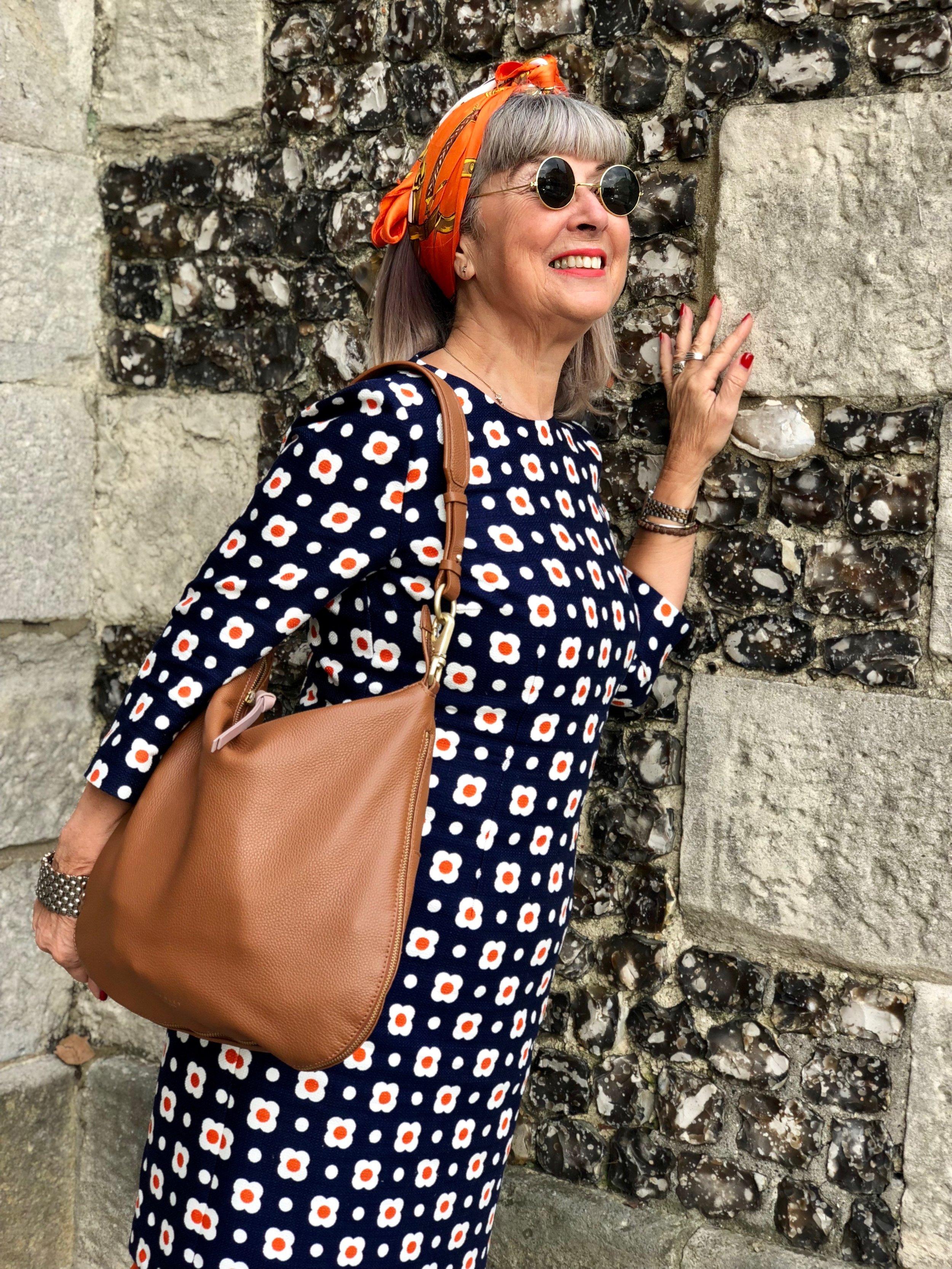 Hobbs dress, 60s style, & Radley bag