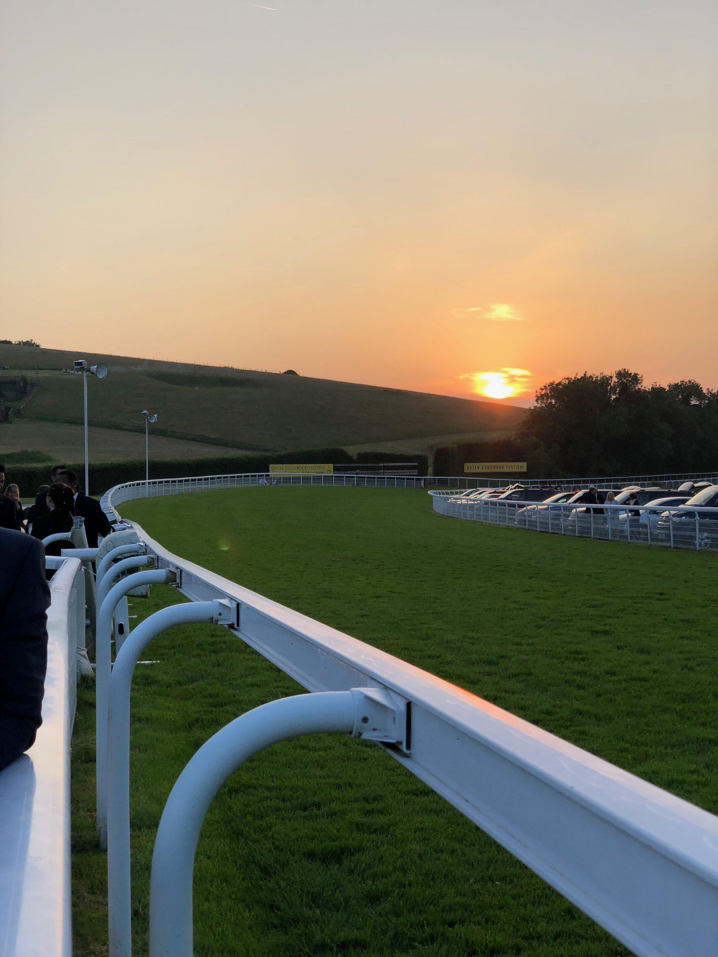 Sunset at Goodwood Racebourse