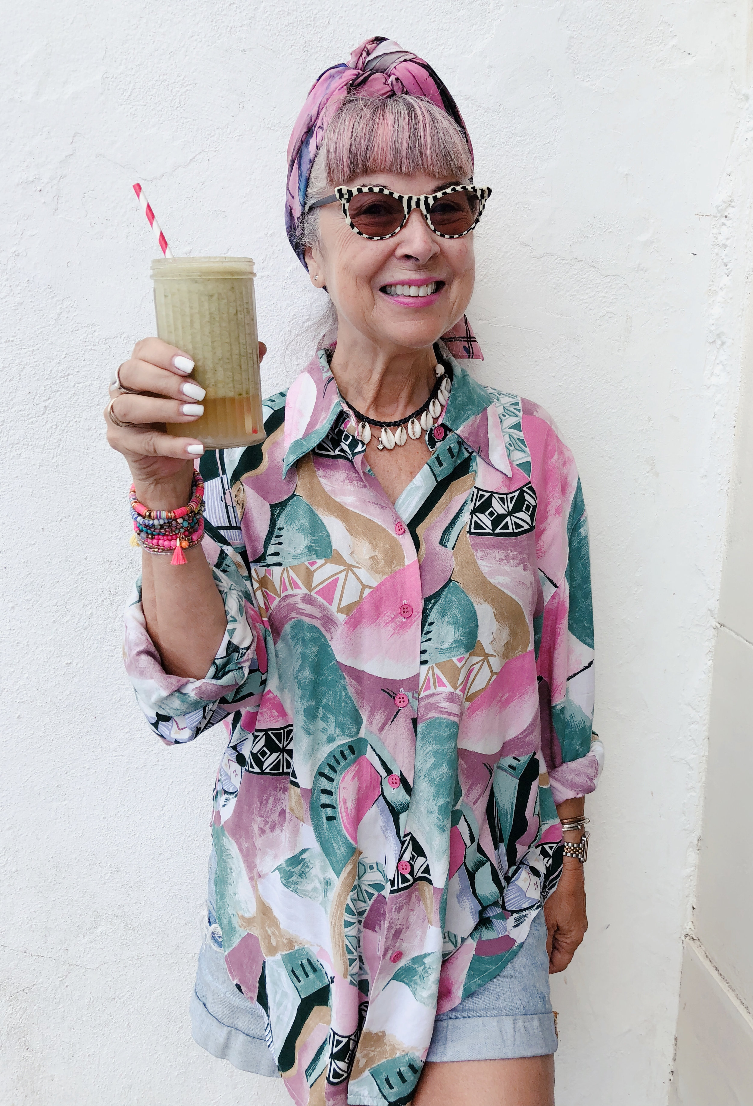 Ready to hit the beach after my protein packed smoothie