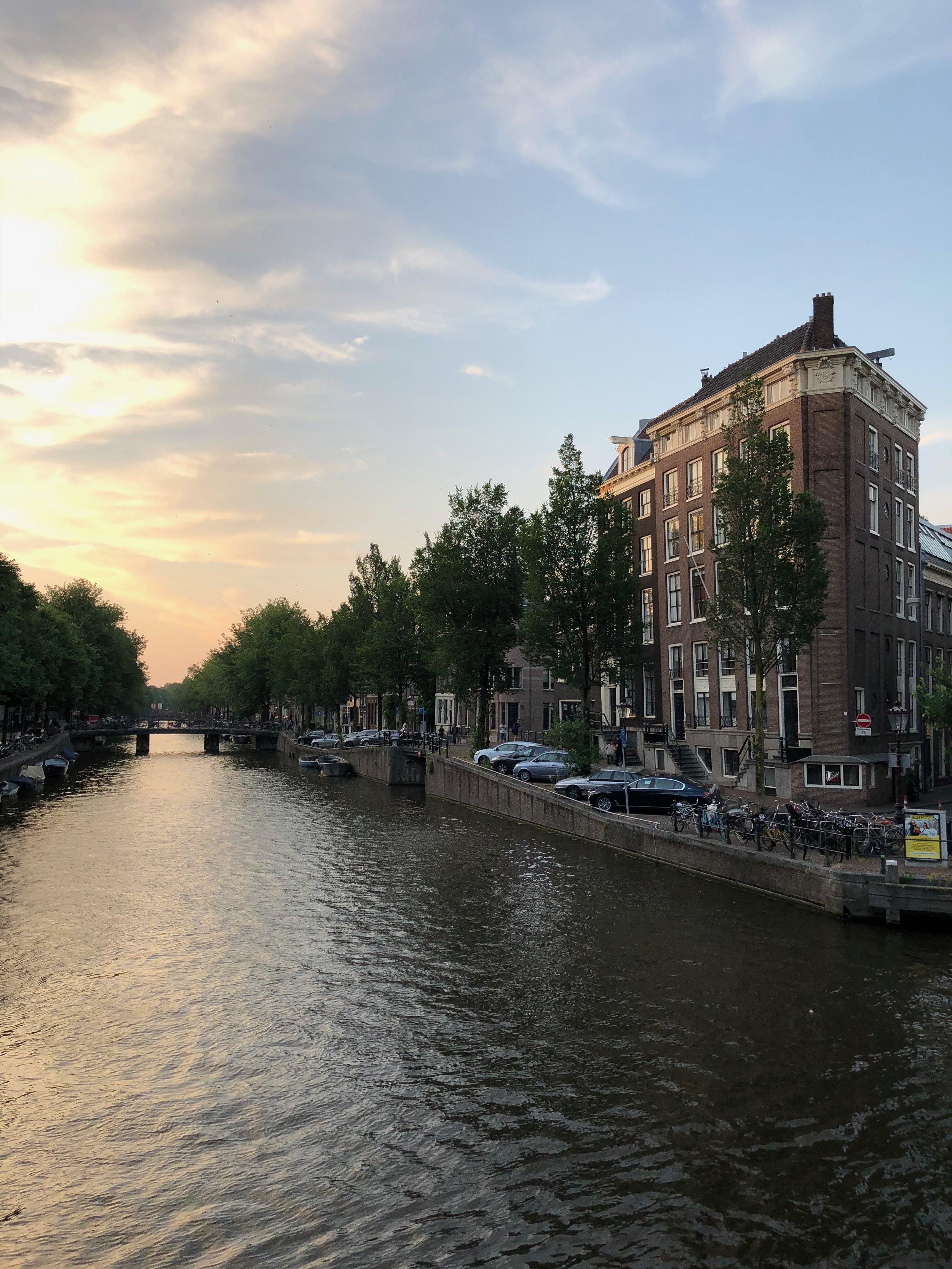 Amsterdam at dusk