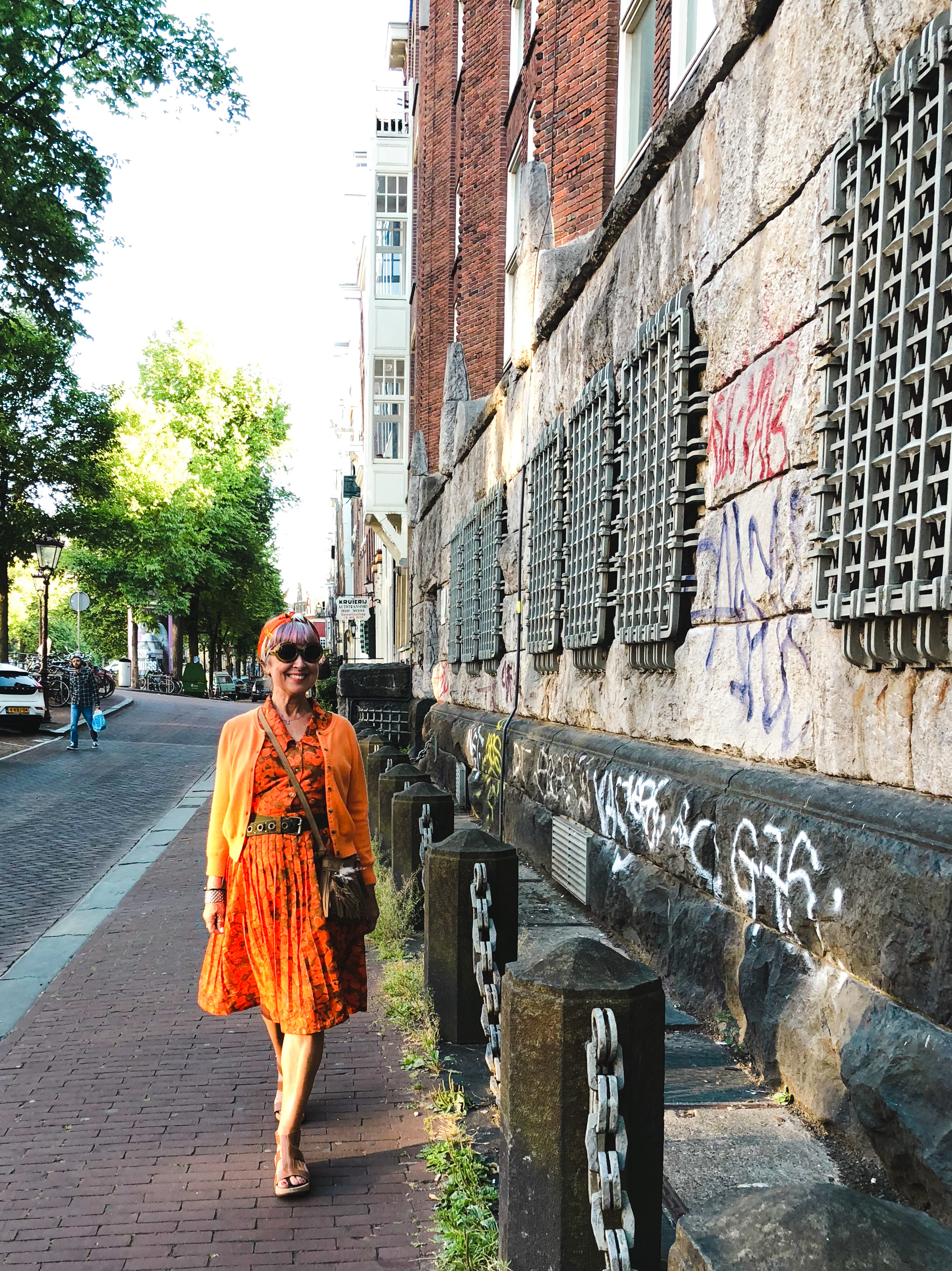 Orange vintage dress, Amsterdam.jpg