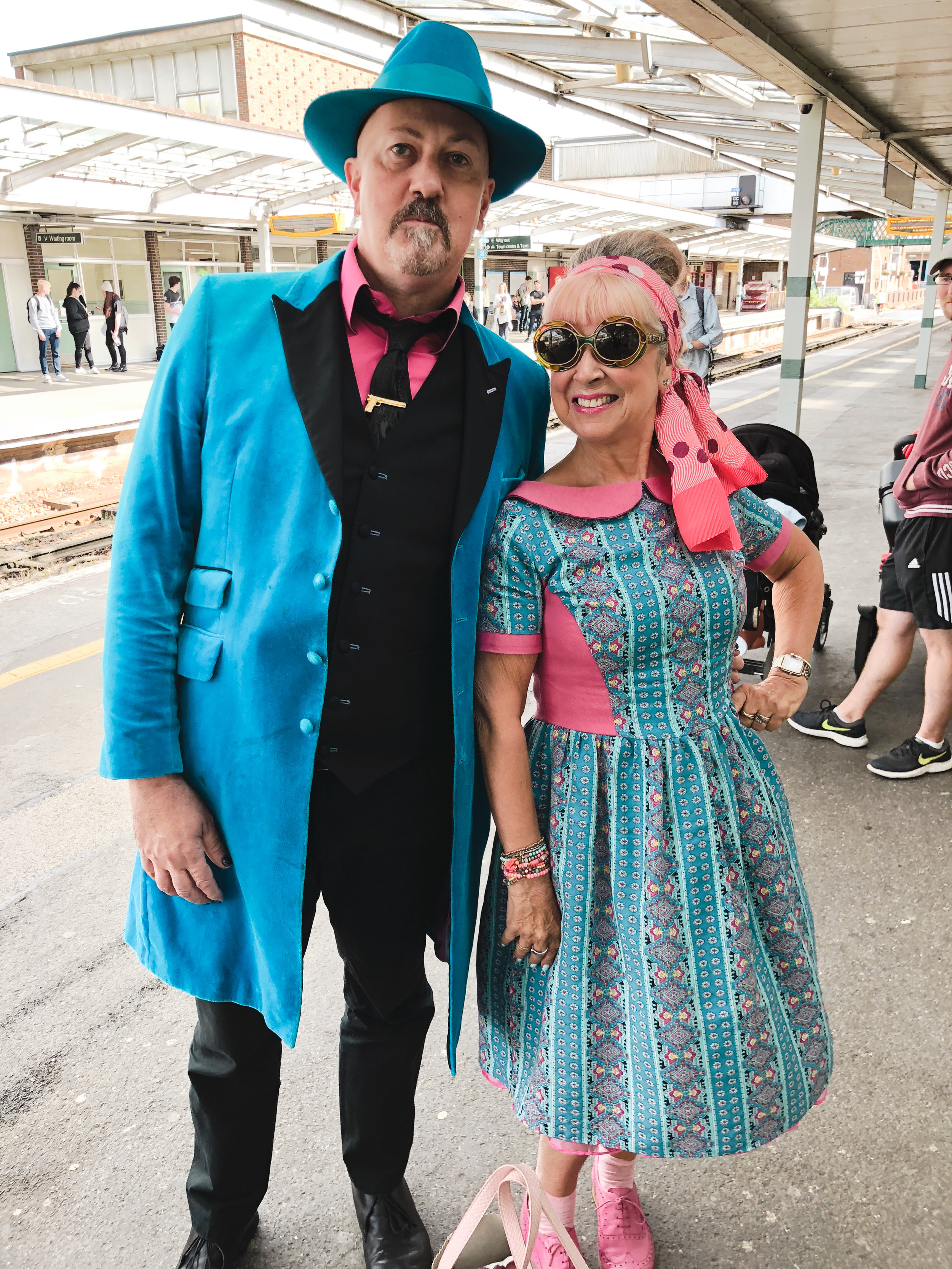 meeting someone wearing the same blue and pink vibe, goodwood revival.jpg