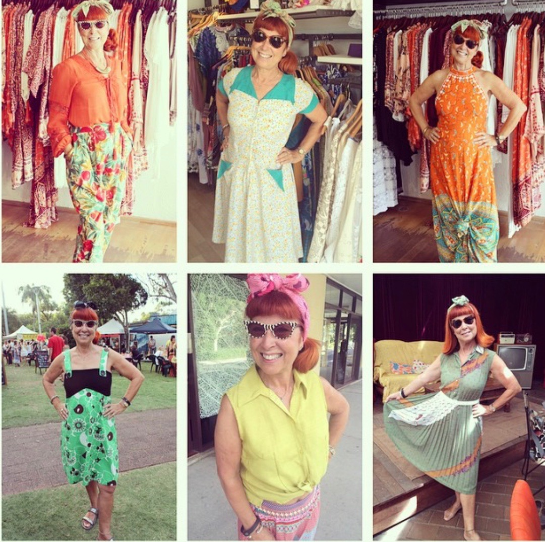 The vintage & shabby chic outfits I found in byron bay.