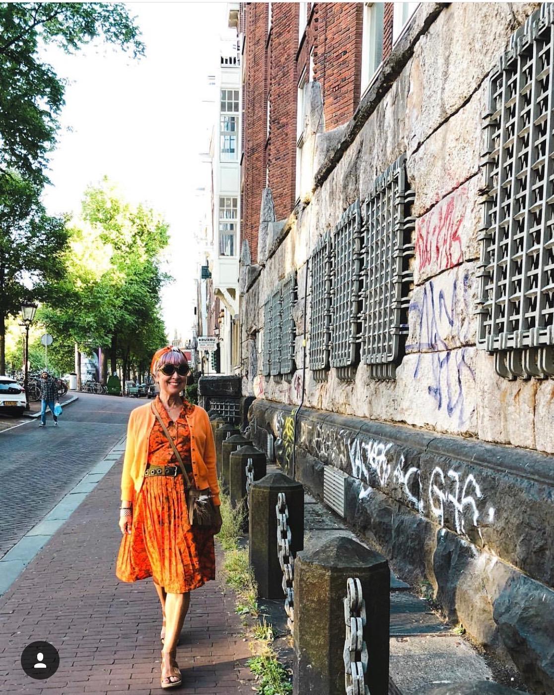 Amsterdam dressed in orange