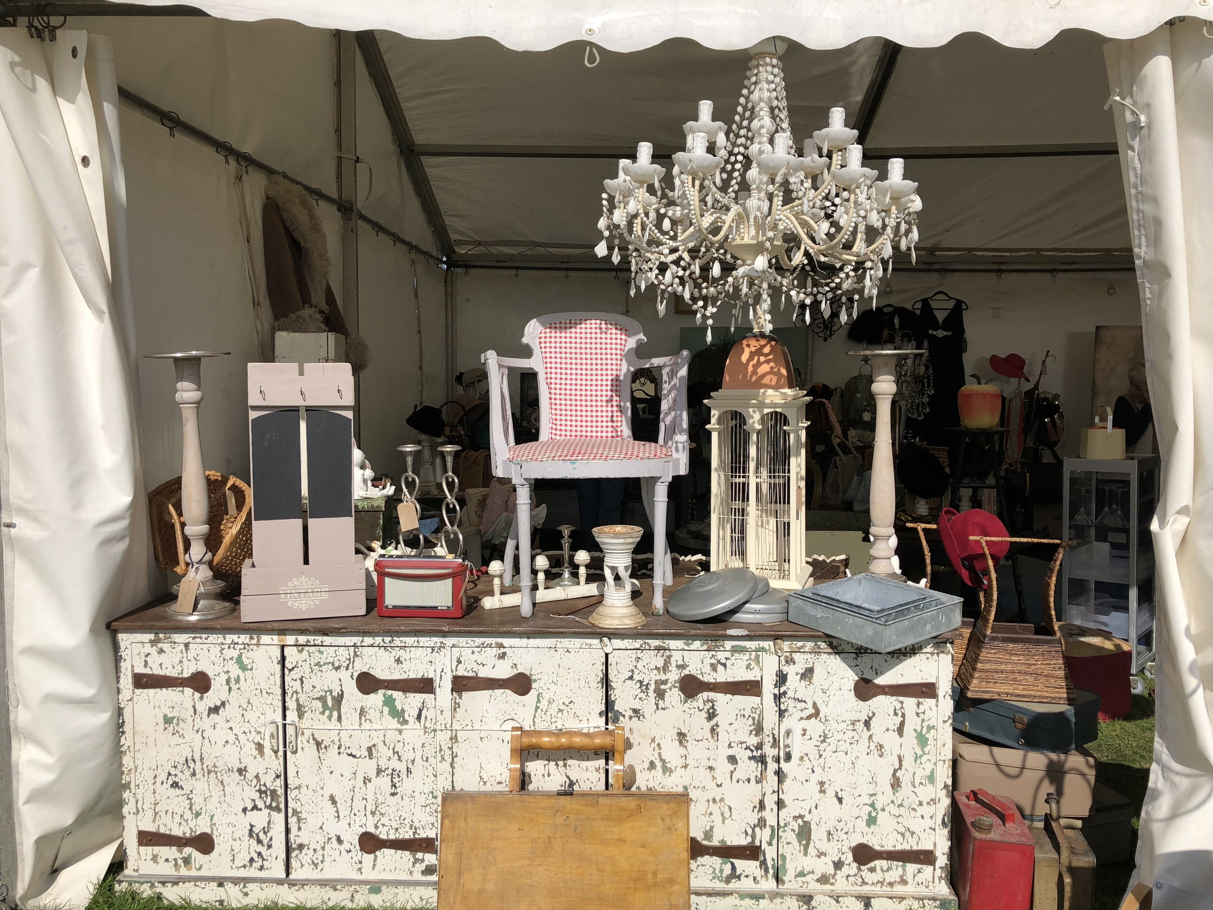 Goodies at The Big Brocante at The Hop Farm, August 2018.