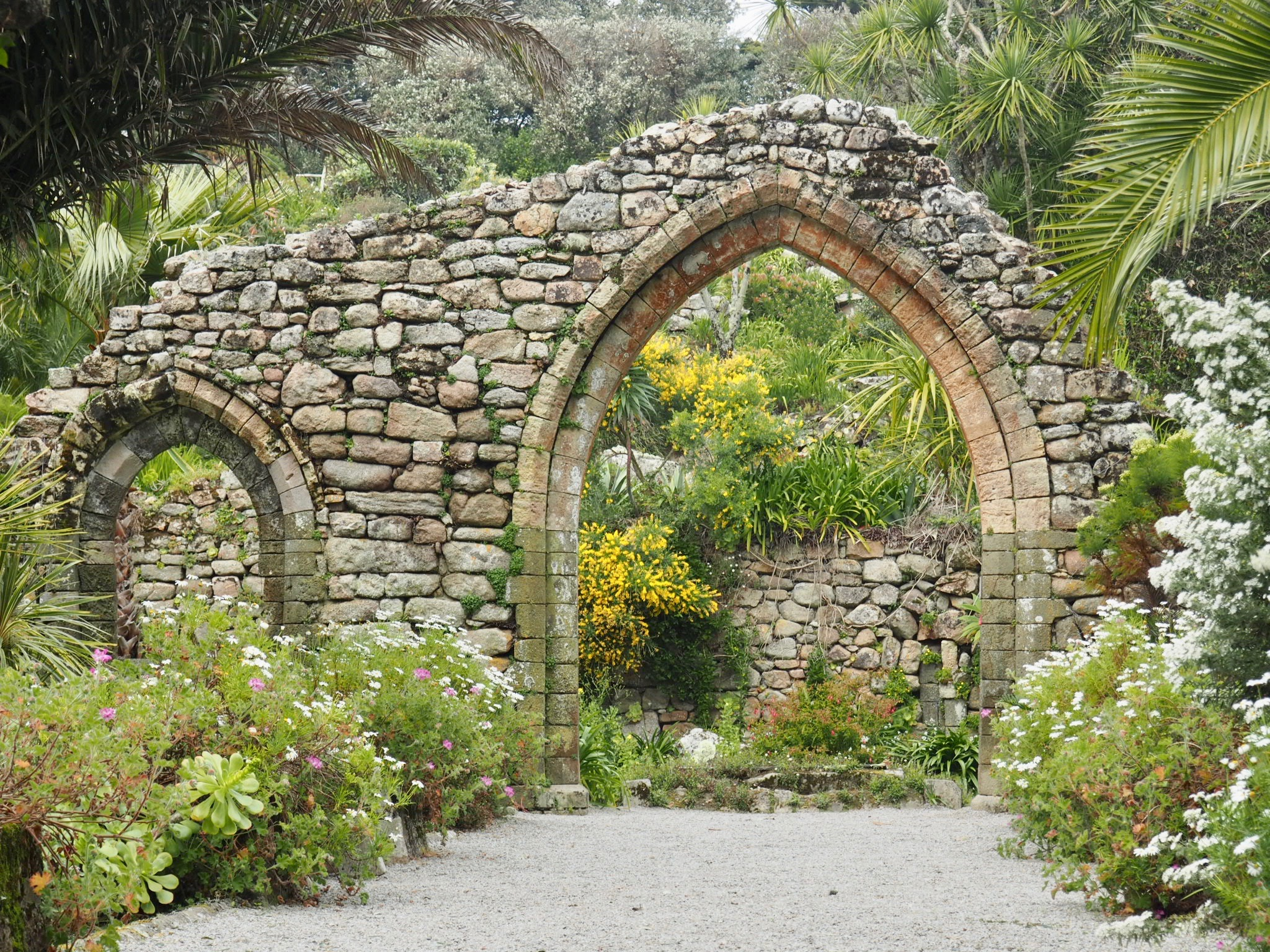 The originl abbey walls at Tresco Abbey Gardens.jpg