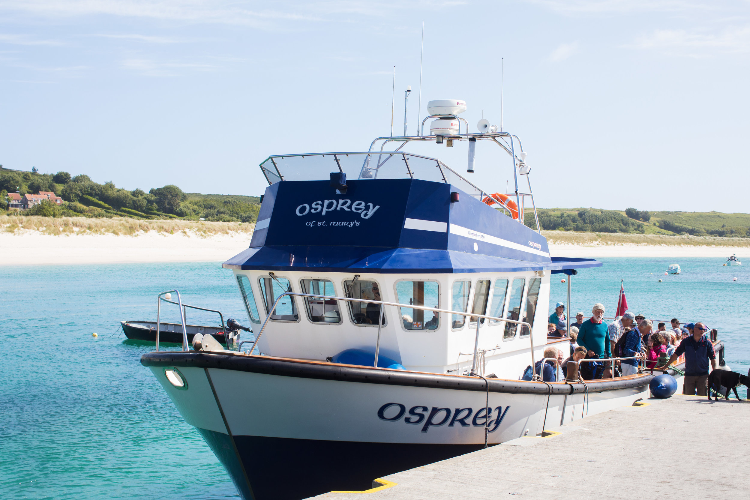 One of the many boats for island hopping on the Scilly Isles.