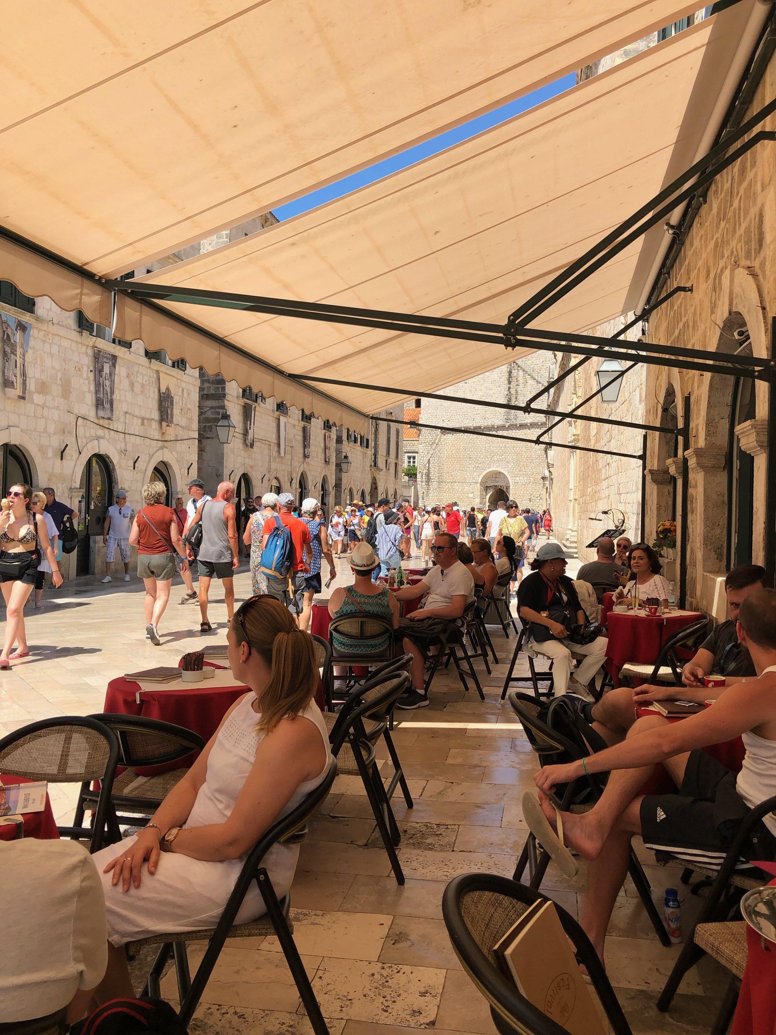 Cafe in Dubrovnik.