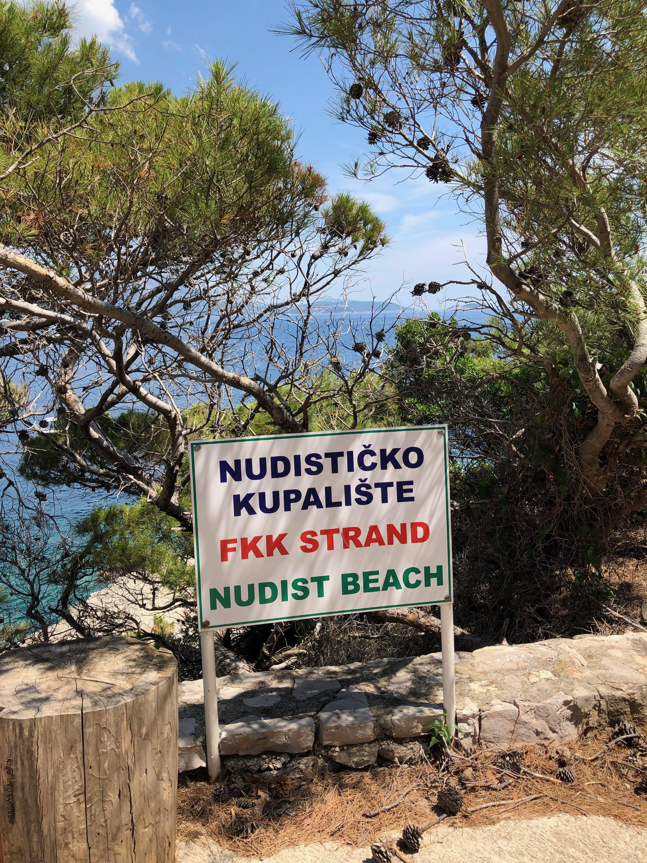 Nudist Beach on Lokrum!