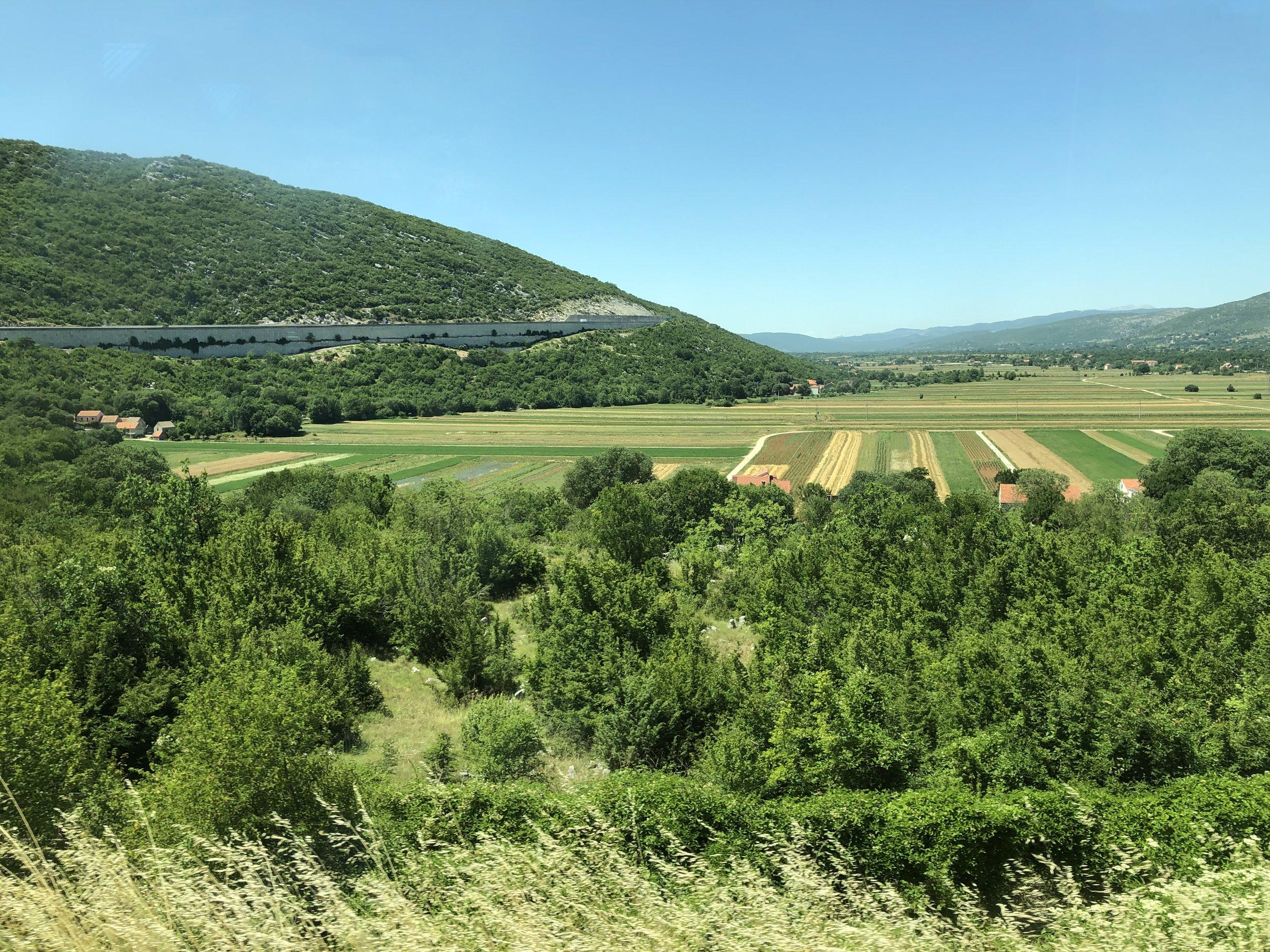 The beautiful Split countryside, Croatia.
