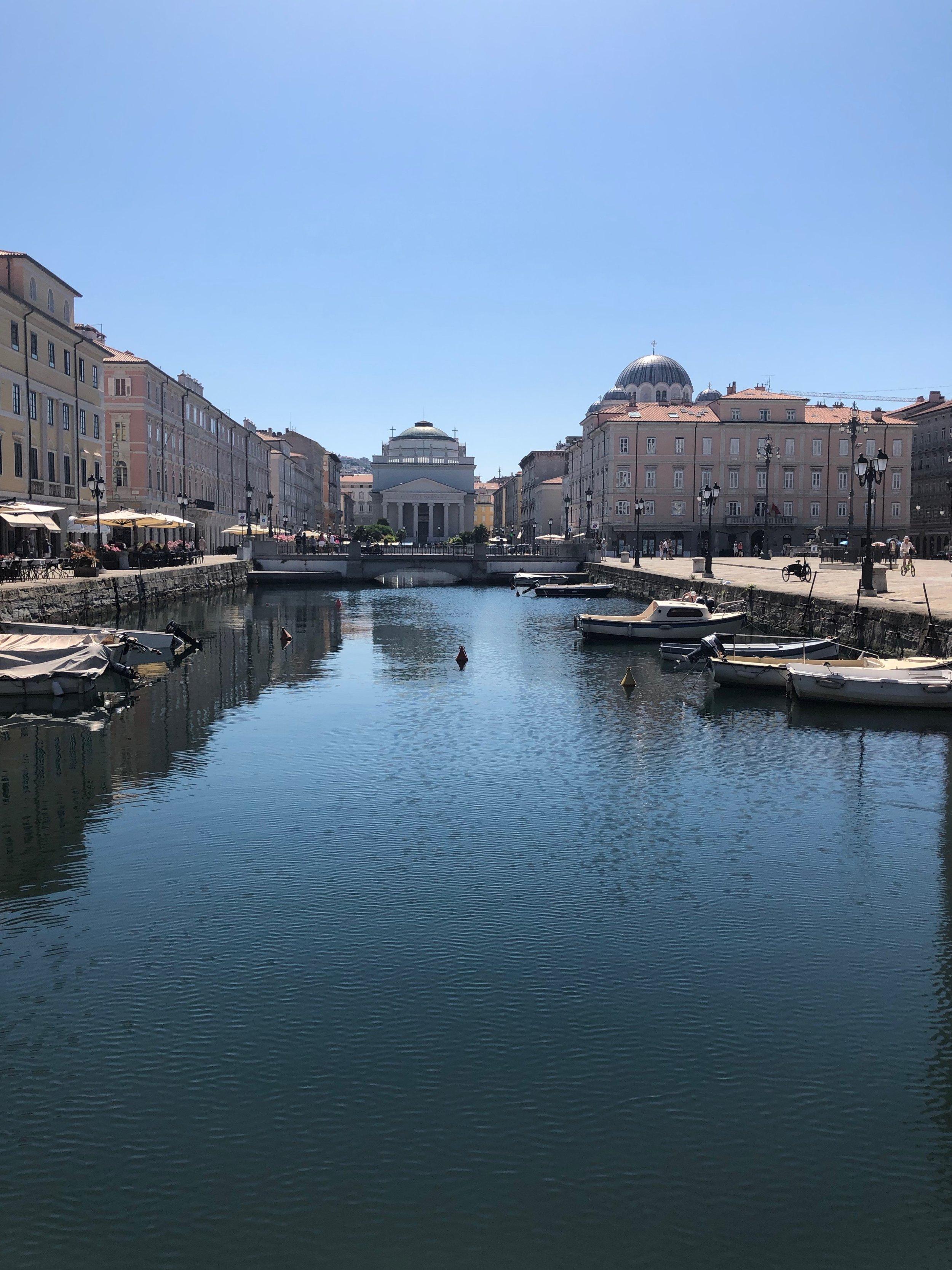 Grand Canal in Trieste.