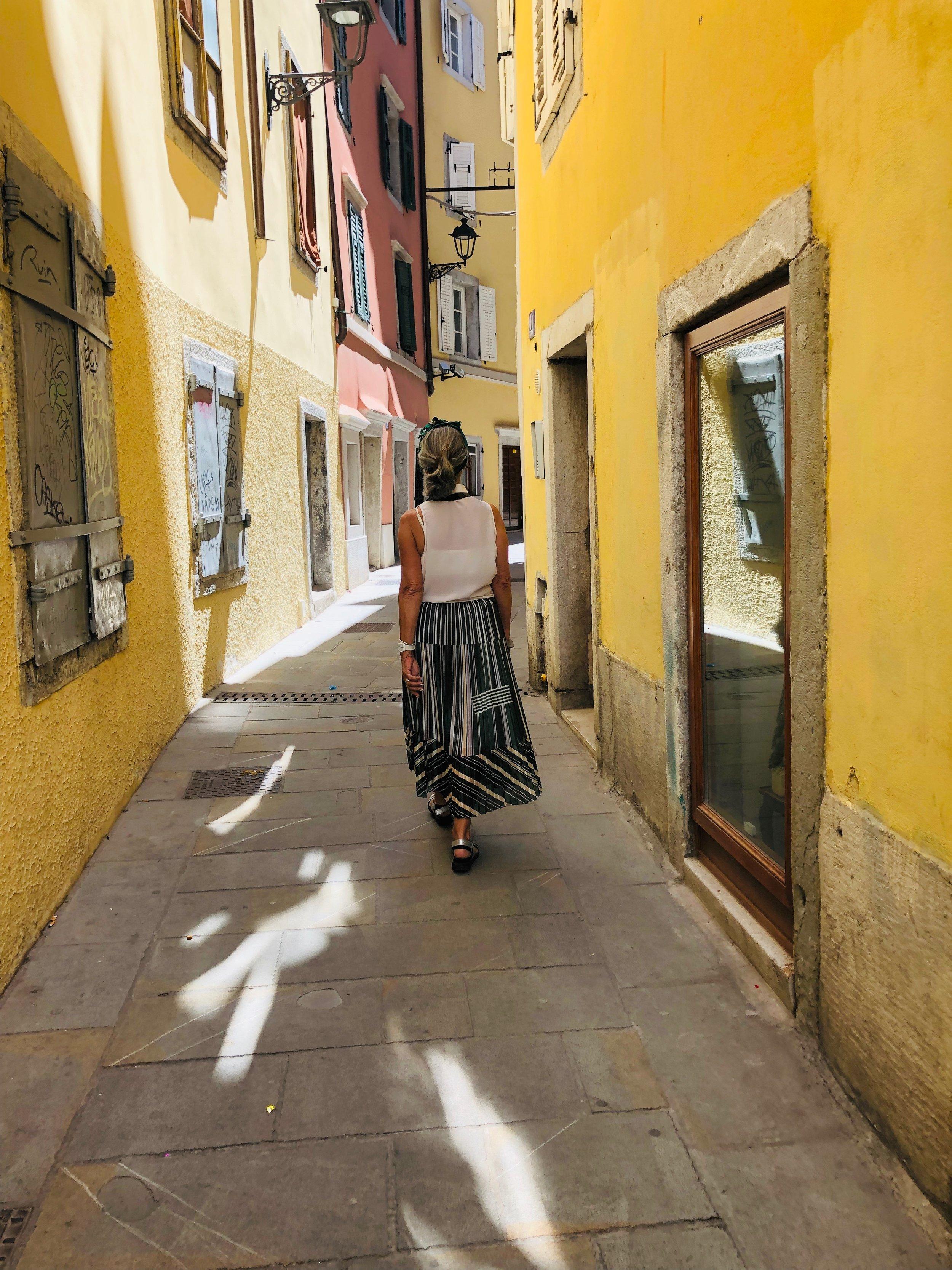 Colourful alleyways in Trieste.