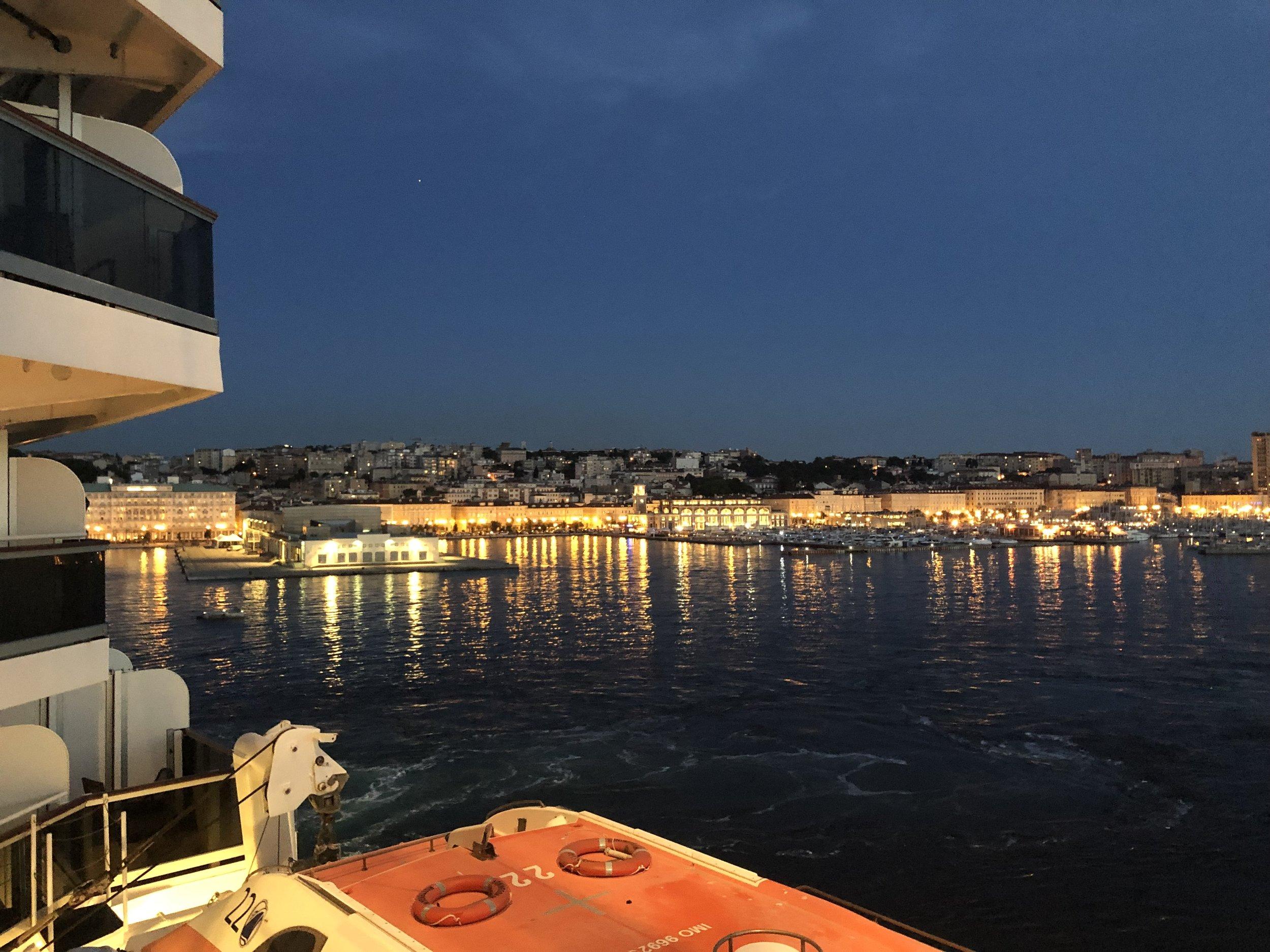 Trieste by night. From my balcony.