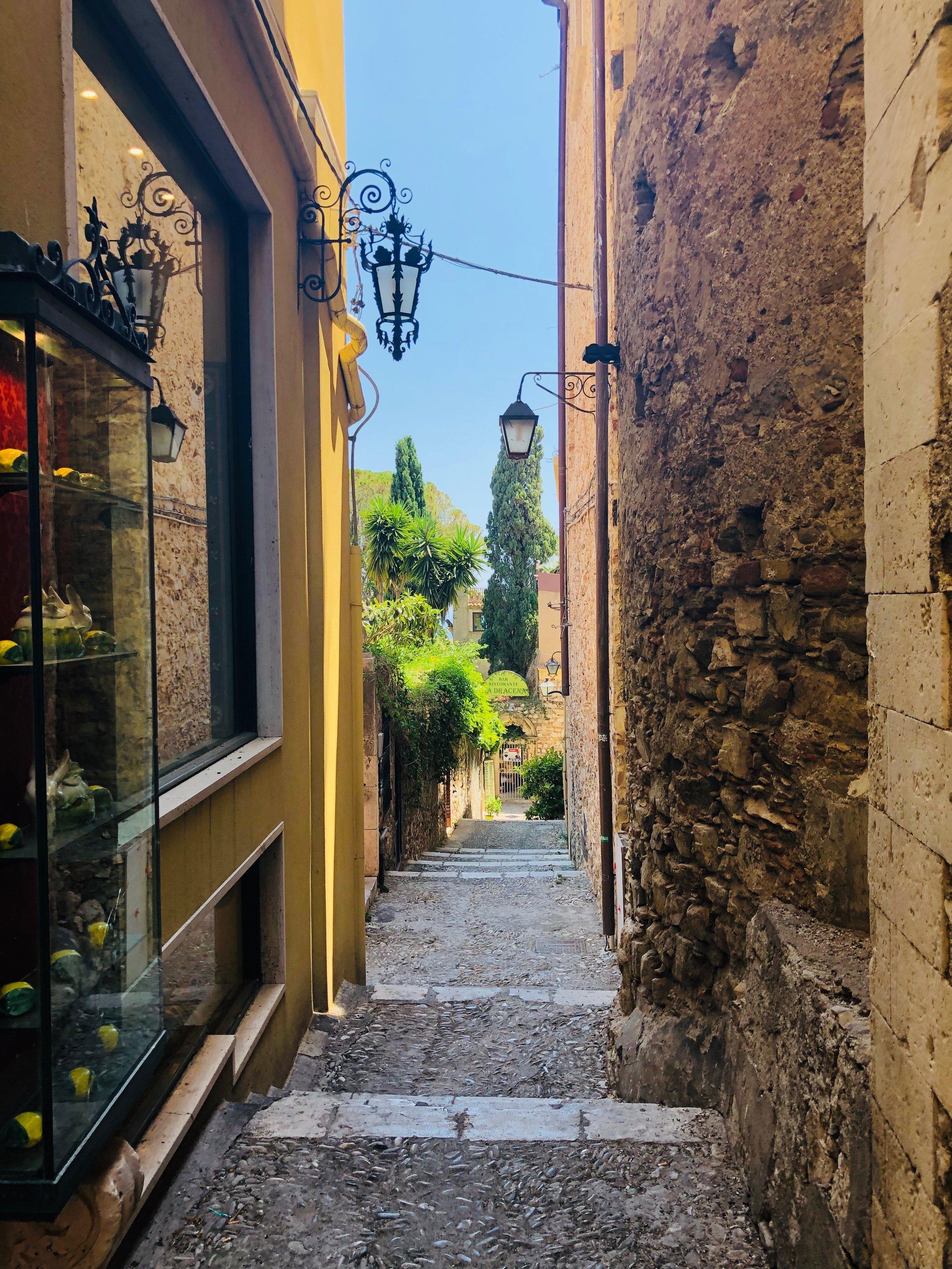Around every corner....in Taormina, Sicily.