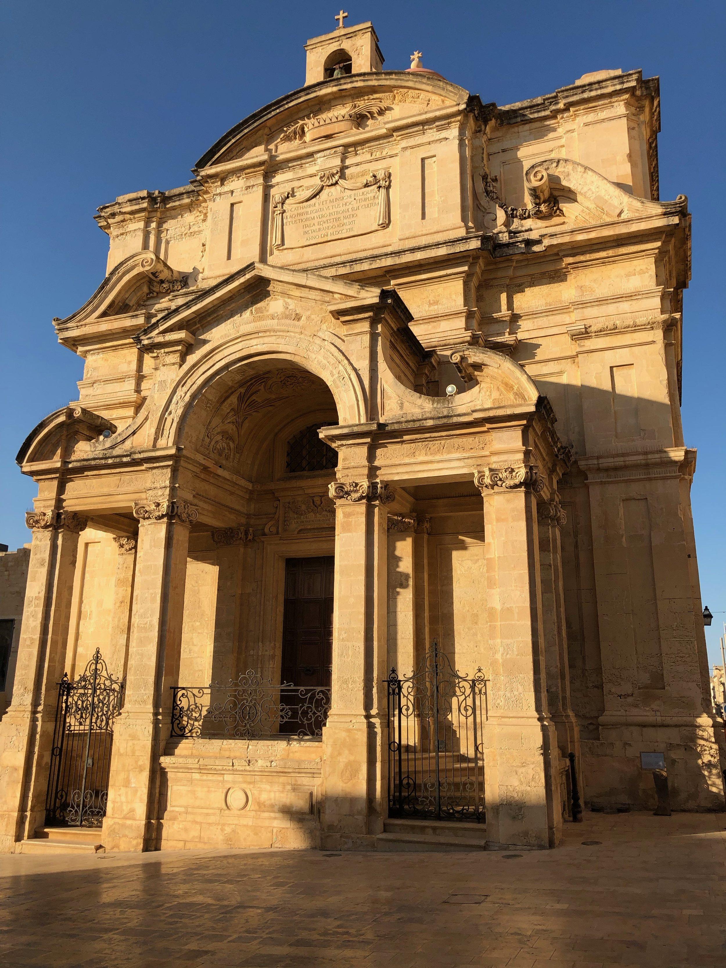The golden hour in Valetta, Malta.