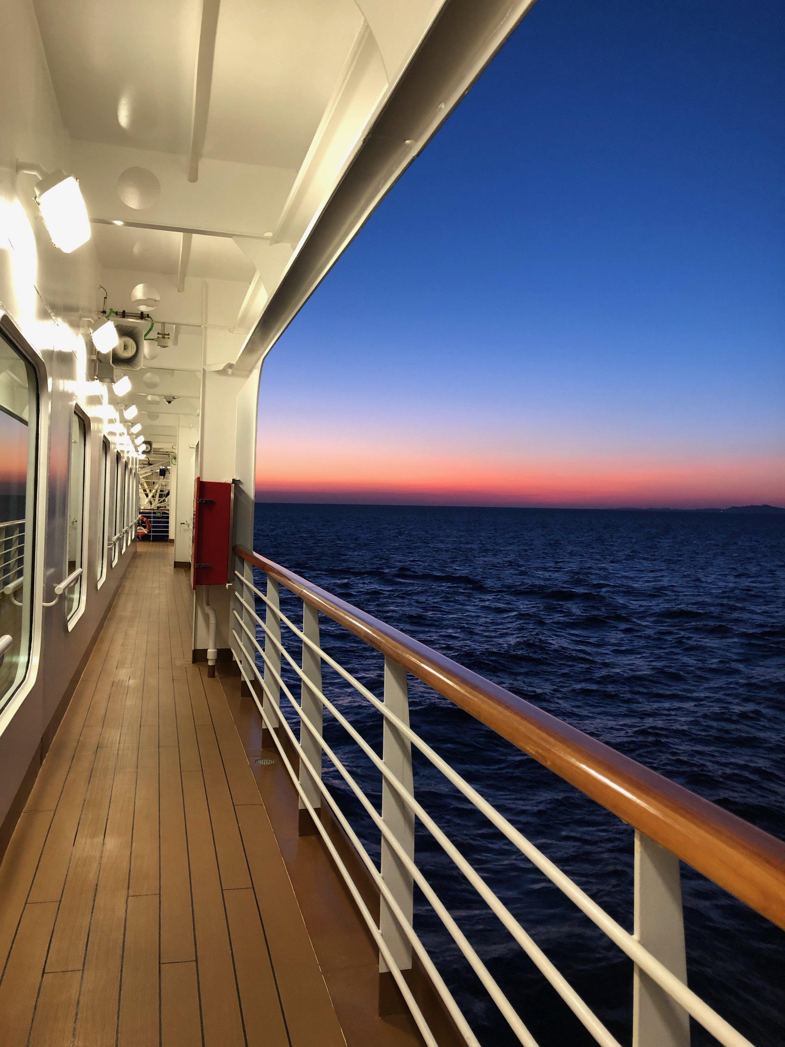 Sunset on Deck 3.