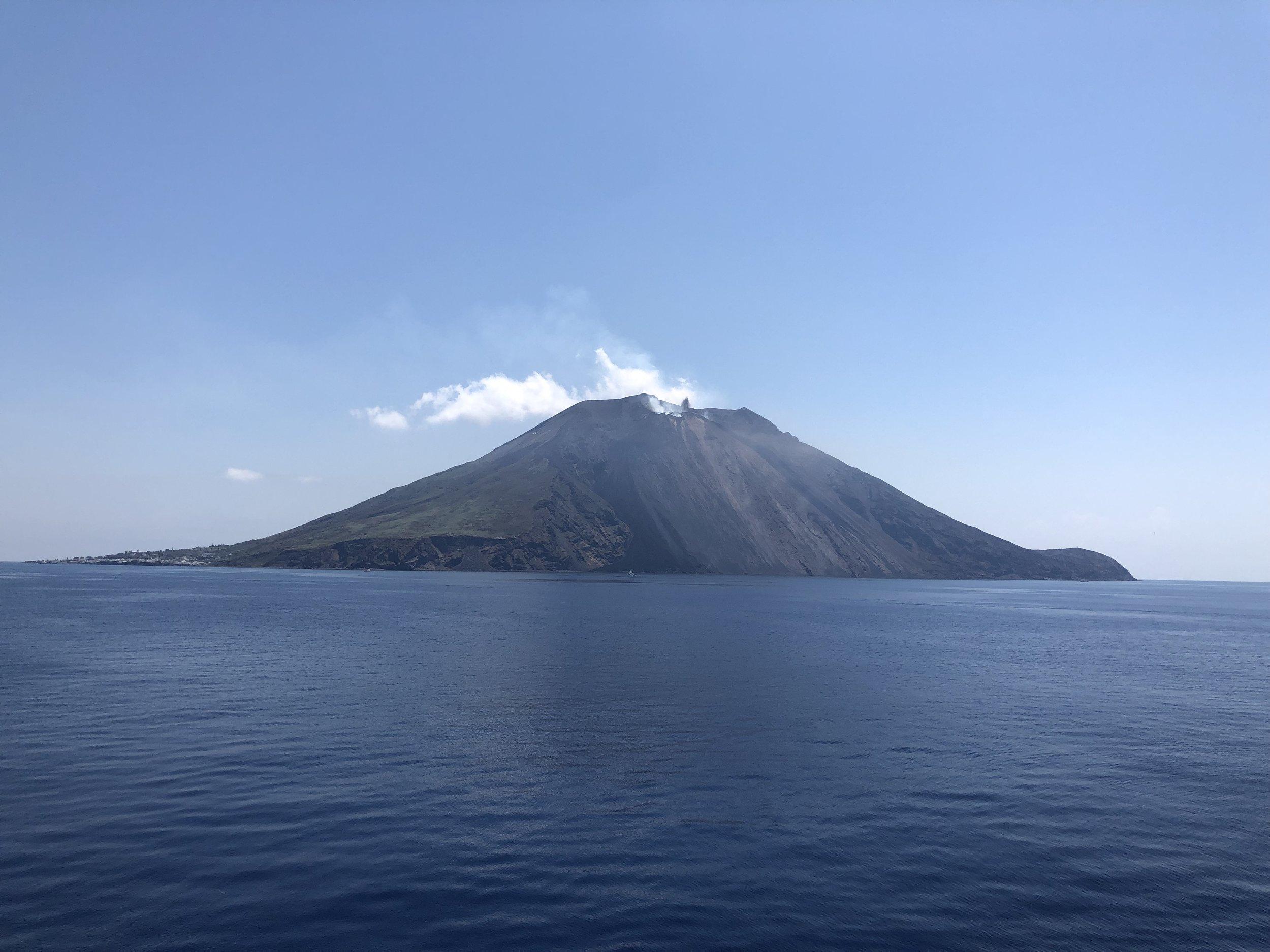 Stromboli, the volcano in Italy.