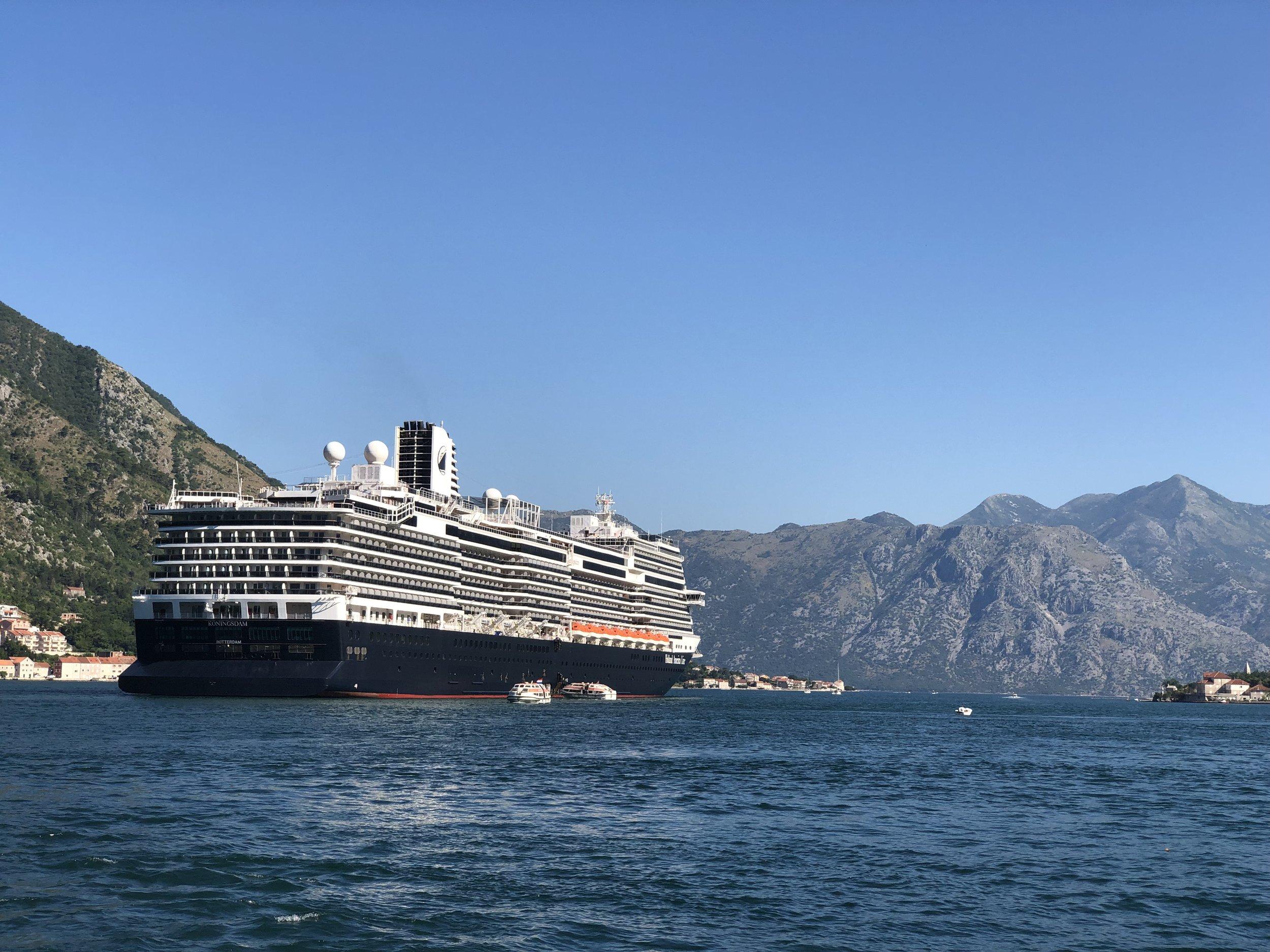 Koningsdam at Kotor, Montenegro.