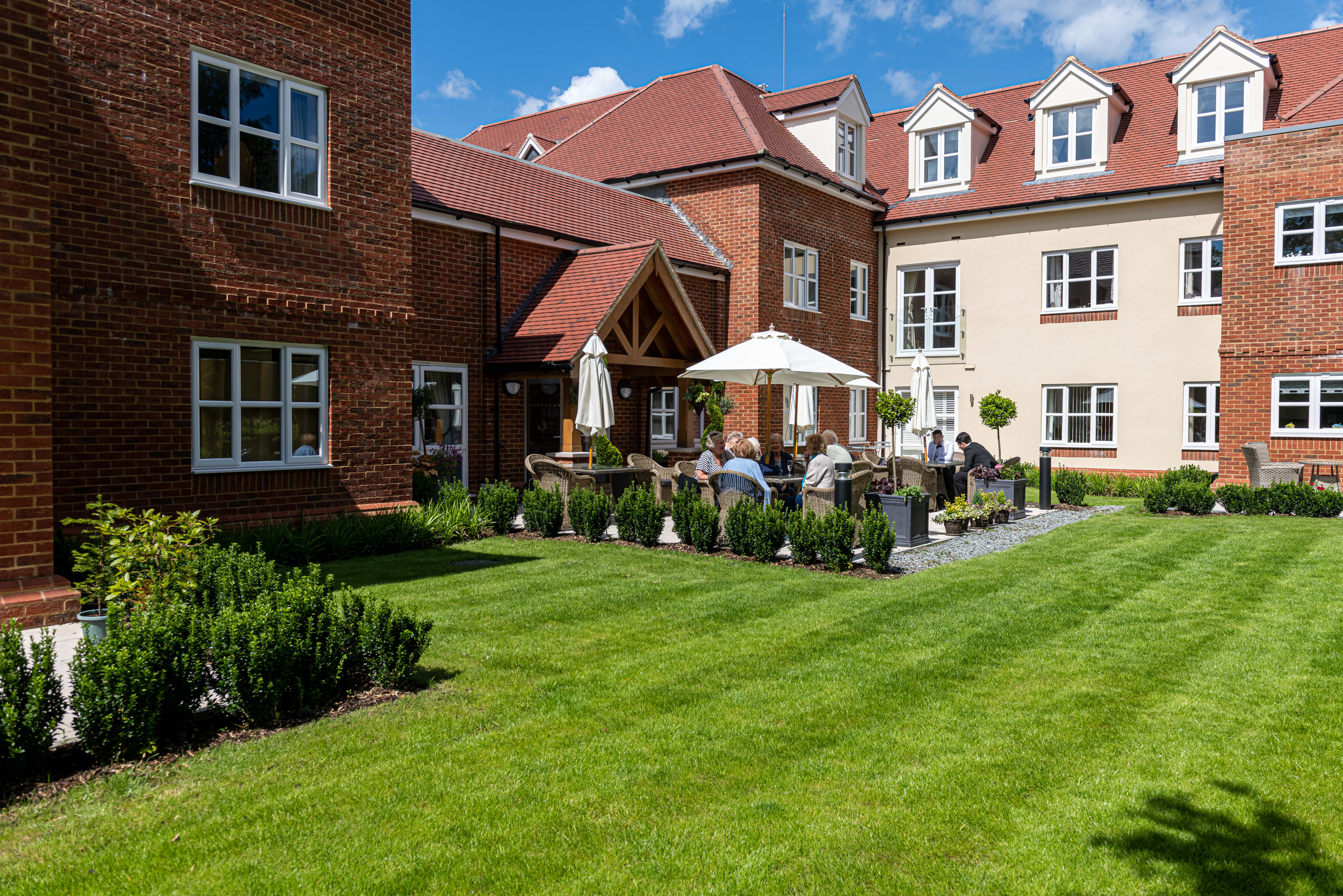 The gardens at Langton House. Who wouldn't enjoy a drink out here on a summer's evening?