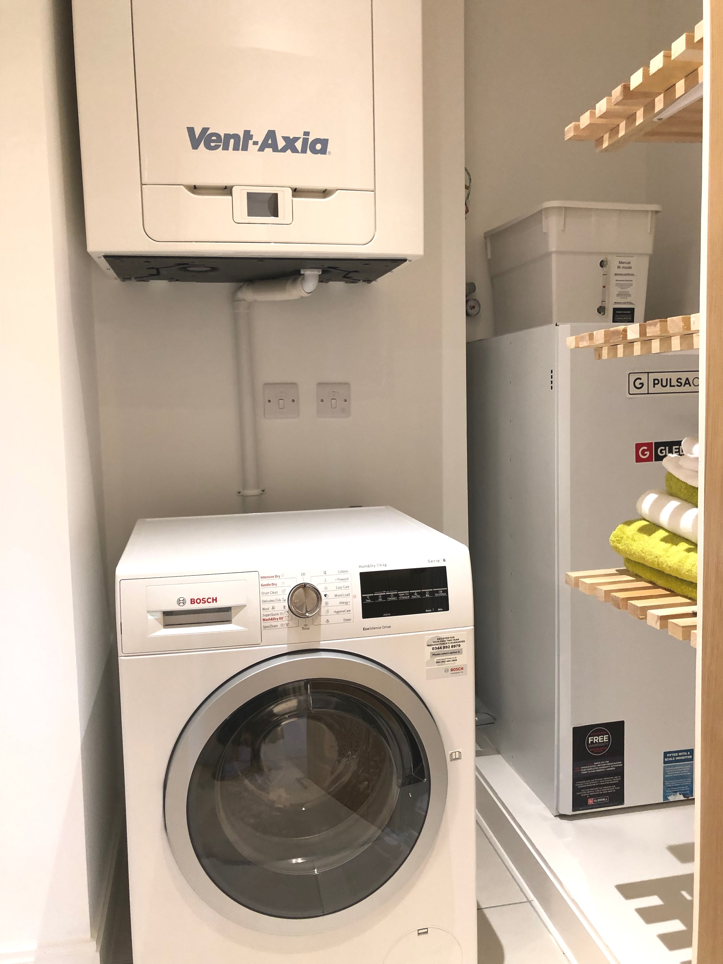 Laundry room in the apartment.