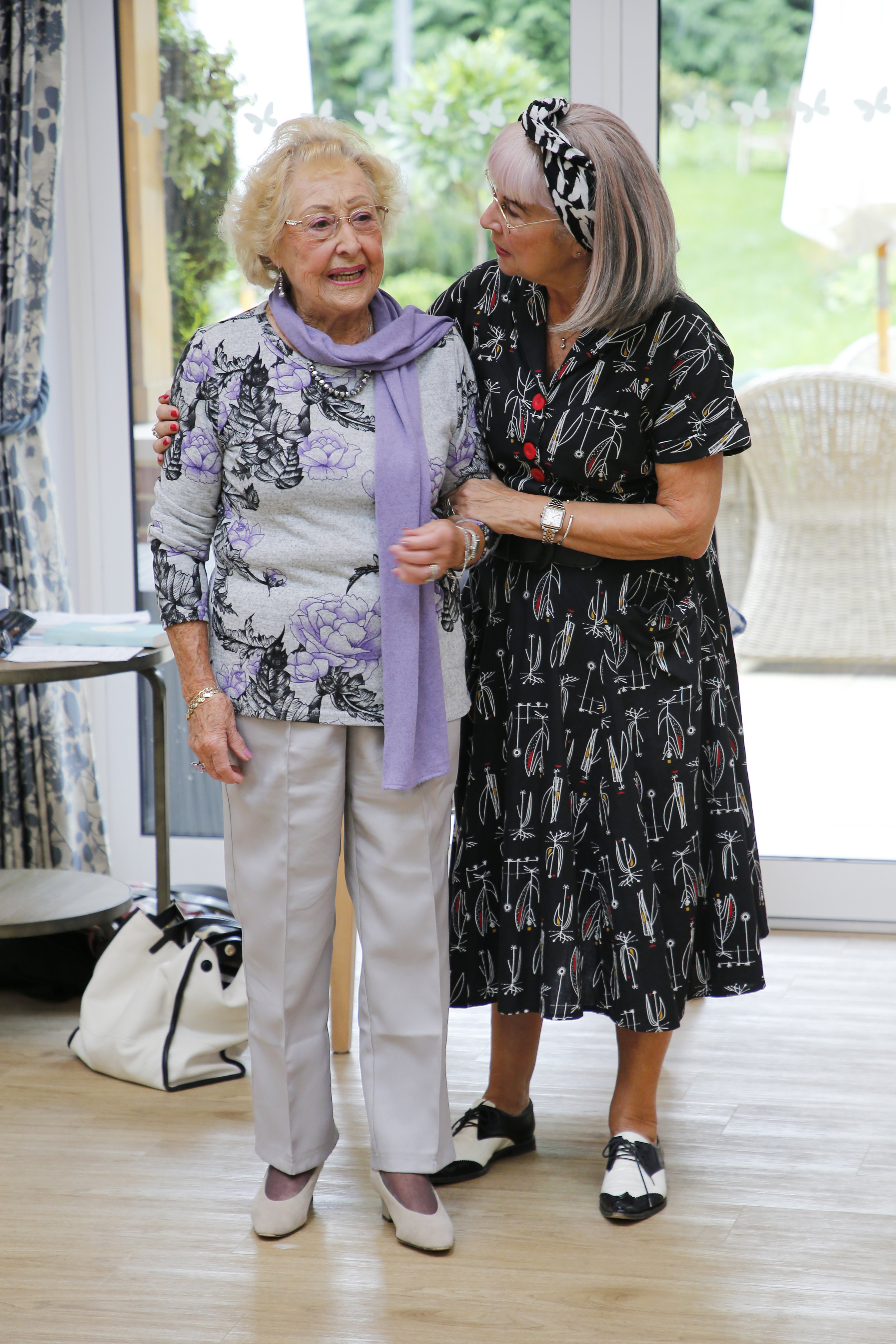 The wonderful nearly 90 Doreen showing us her heels and sharing her longevity secrets.