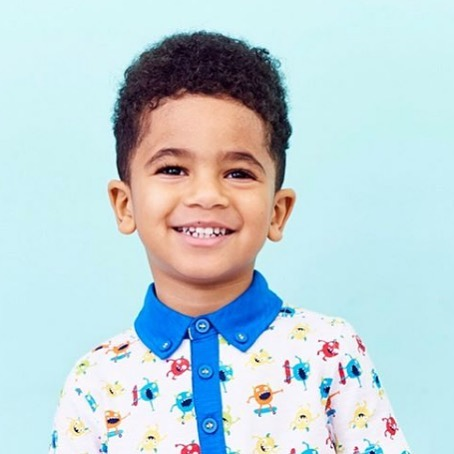 Love this little guy in our monster print @bootsminiclub #bootsminiclub #gathernomoss #gathernomossstudio #monstertshirt #kidsapparel #printandpattern #monsterpatterns #surfacepattern #kidsfashion #kidsprints #kidsmood
