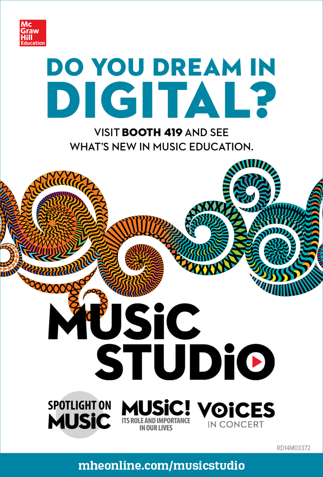 Music Studio national conference ad  Conceptualized and designed in InDesign with copywriter