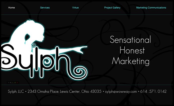 Sylph marketing portfolio website  Conceptualized and designed with Illustrator and WIX template