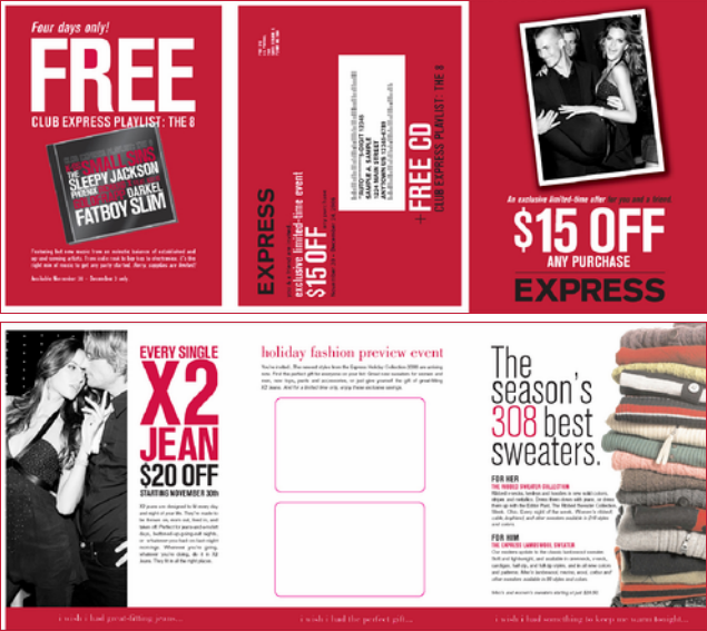 Holiday direct mail  Conceptualized and designed with InDesign