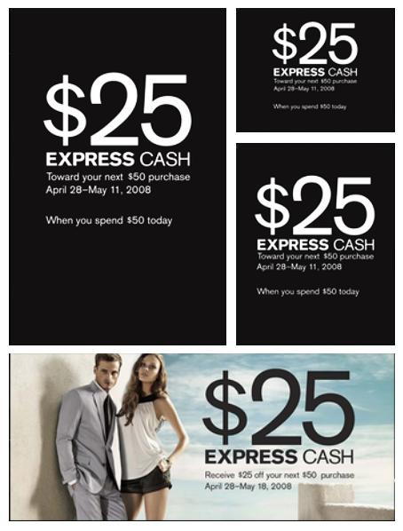 Express Cash instore signage  Designed in InDesign
