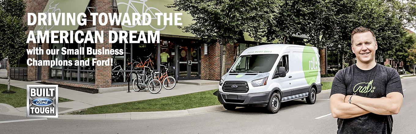 Ford Transit small business champion campaign banners  Photographed on location. Retouched and designed in Photoshop.