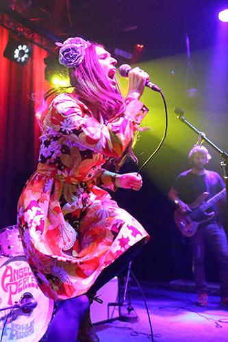 Angela Perley sings Hurricane.