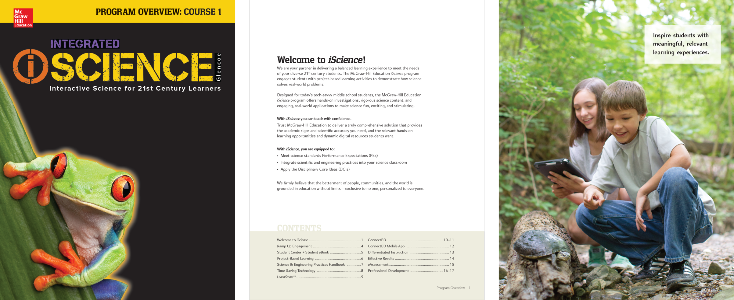 iScience 8-page program overview  Conceptualized and designed in InDesign