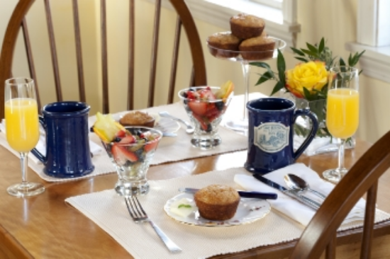 Breakfast at 1802 House in Kennebunkport, ME. Photo by Christian Giannelli.