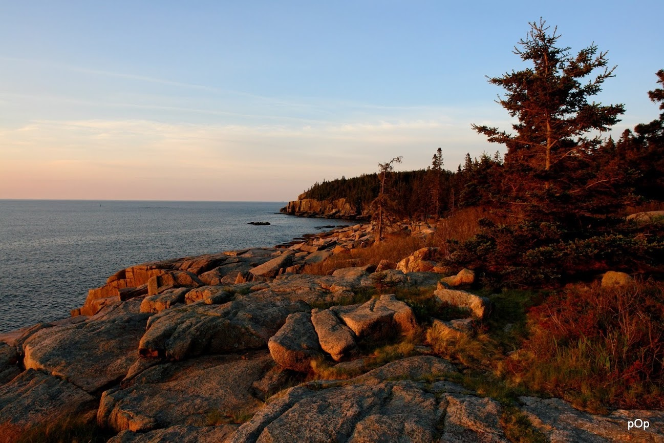 A view of Acadia National Park in beautiful sunlight captured by  Packodawgs Photography .