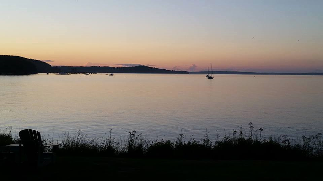 A view of Frenchman's Bay from Saltair Inn Waterfront B&B. Photo provided by Saltair Inn.