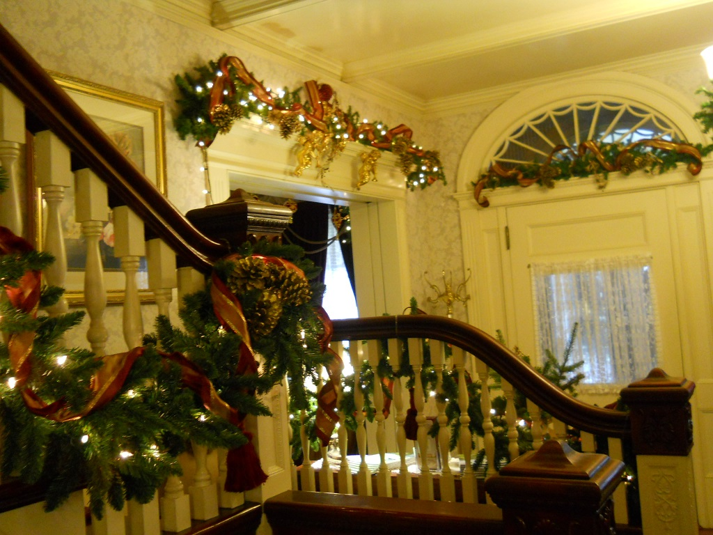 Victorian-styled holiday decor at Berry Manor Inn.