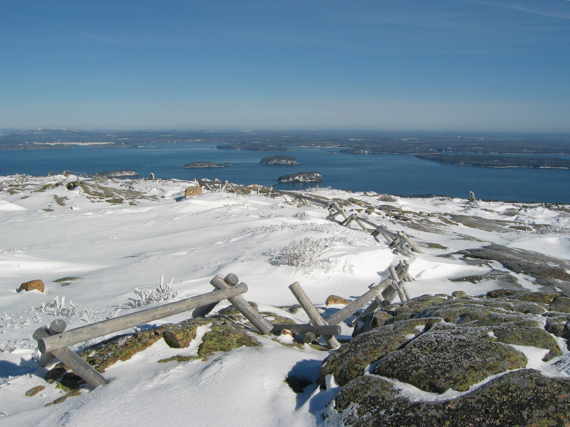 View from atop Cadillac Mountain in Acadia National Park. (NPS photo).
