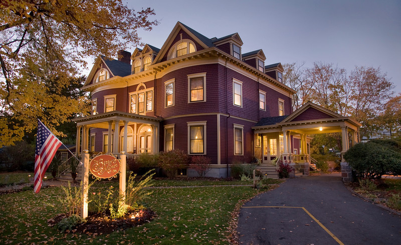 Berry Manor Inn in all her fall glory. Photo by  Jumping Rocks Photography.